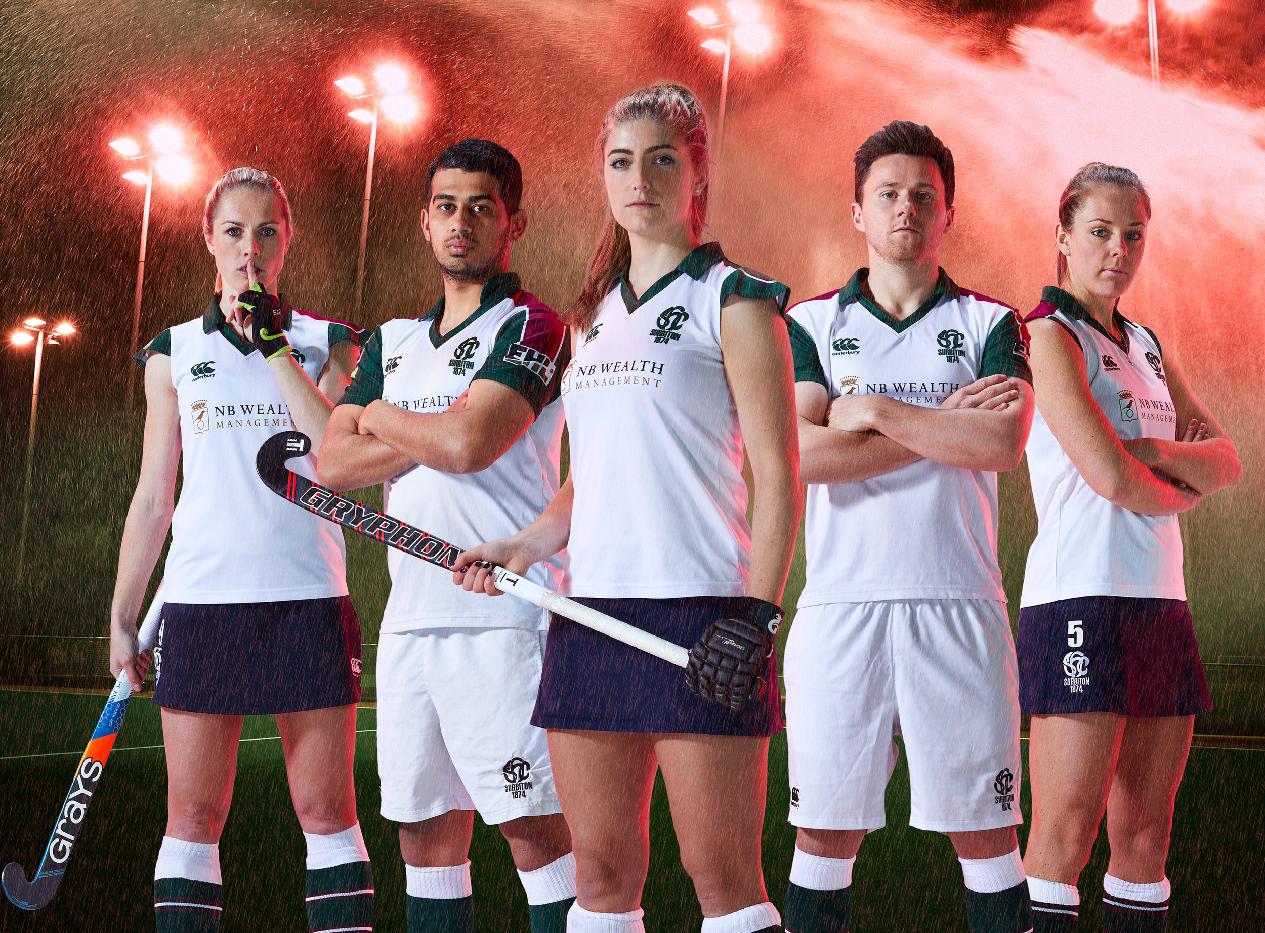 Sports & Fitness Portraits of Surbiton Hockey Club Women's and Men's