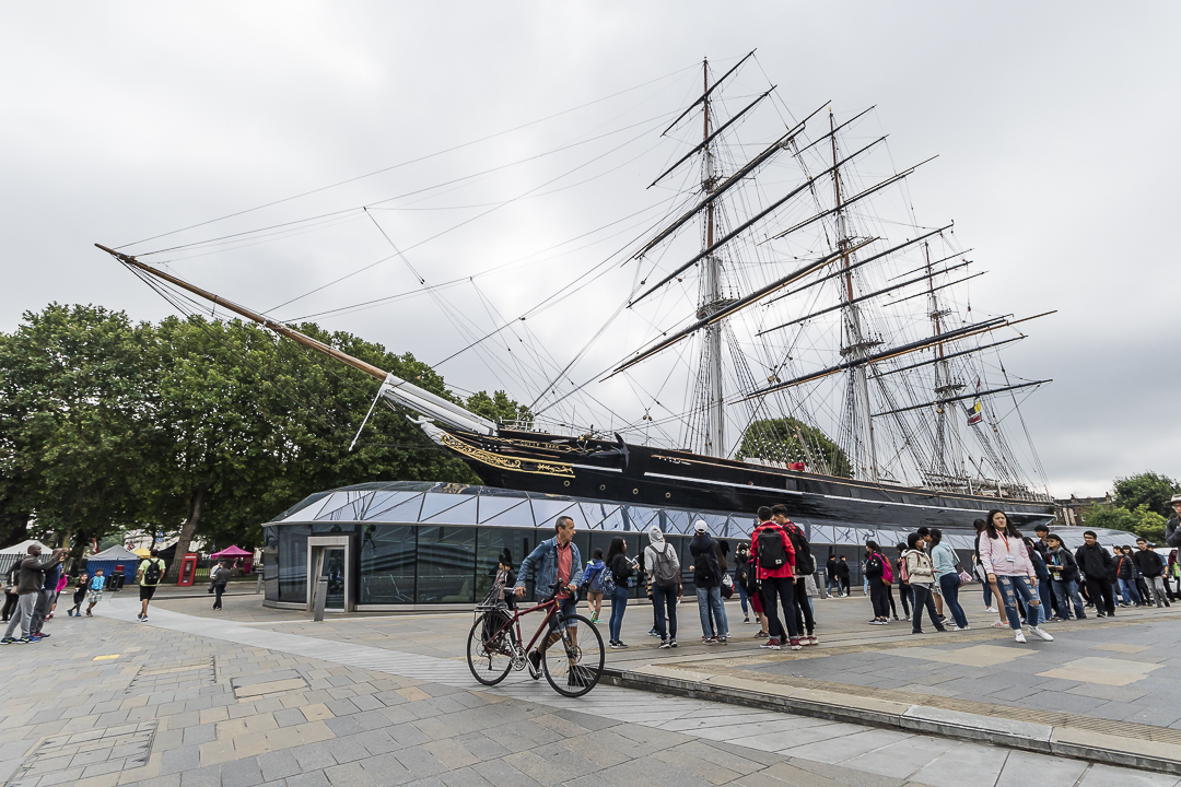 Visitors arrive to see the famous Tea Clipper