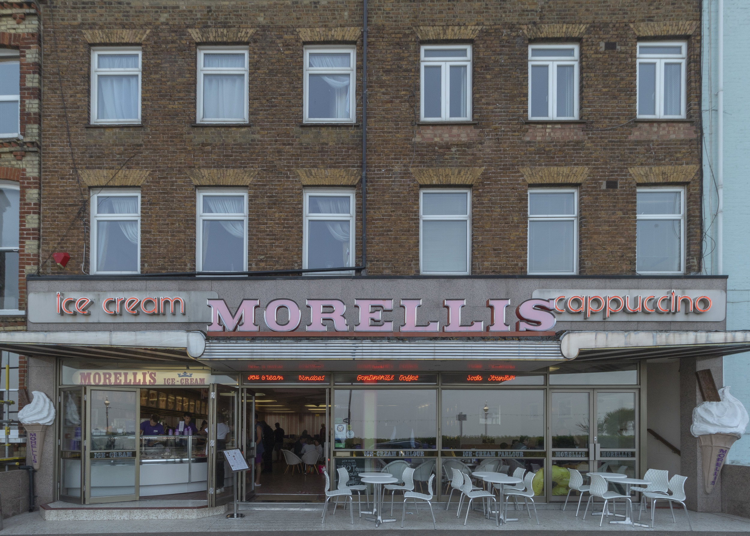 Morelli's with it's amazing 50s interior is a must for coffee lovers and gelato officianados like me