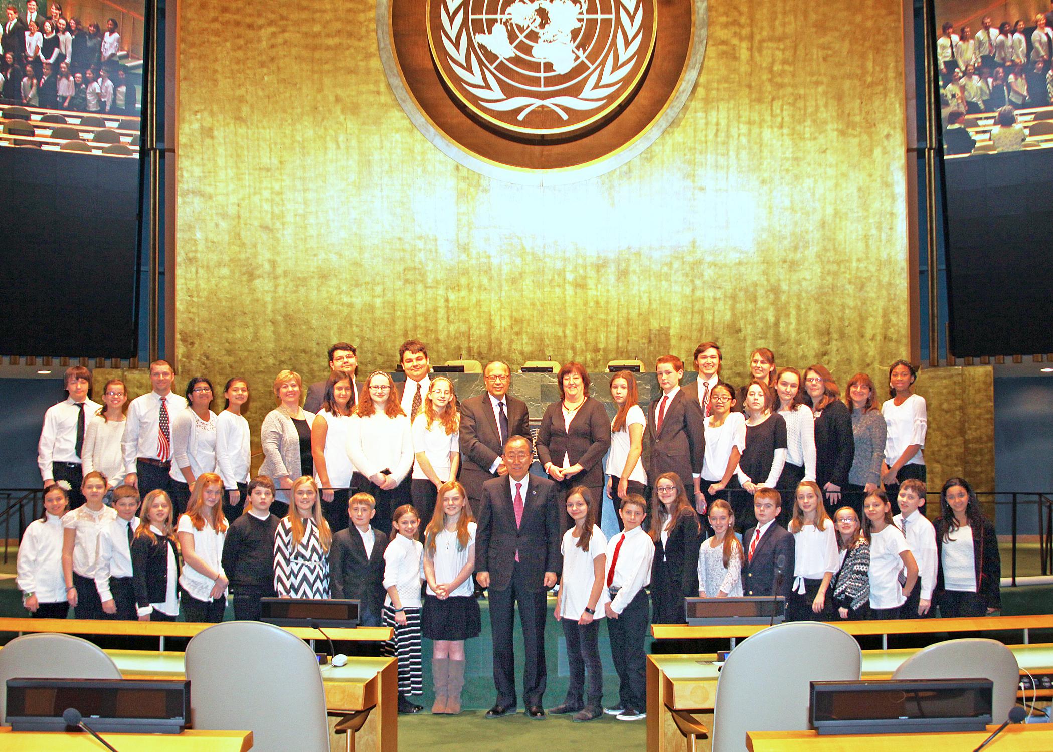 UN Visit with secretary-general ban ki-moon