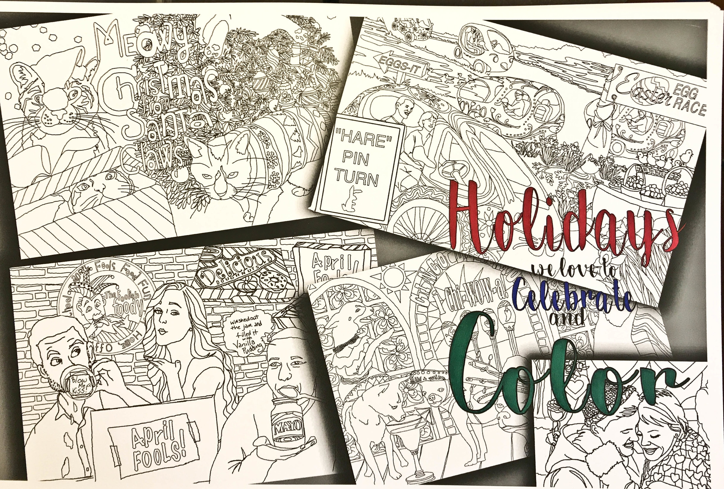 Cover Art for  Holidays We Love to Celebrate and Color