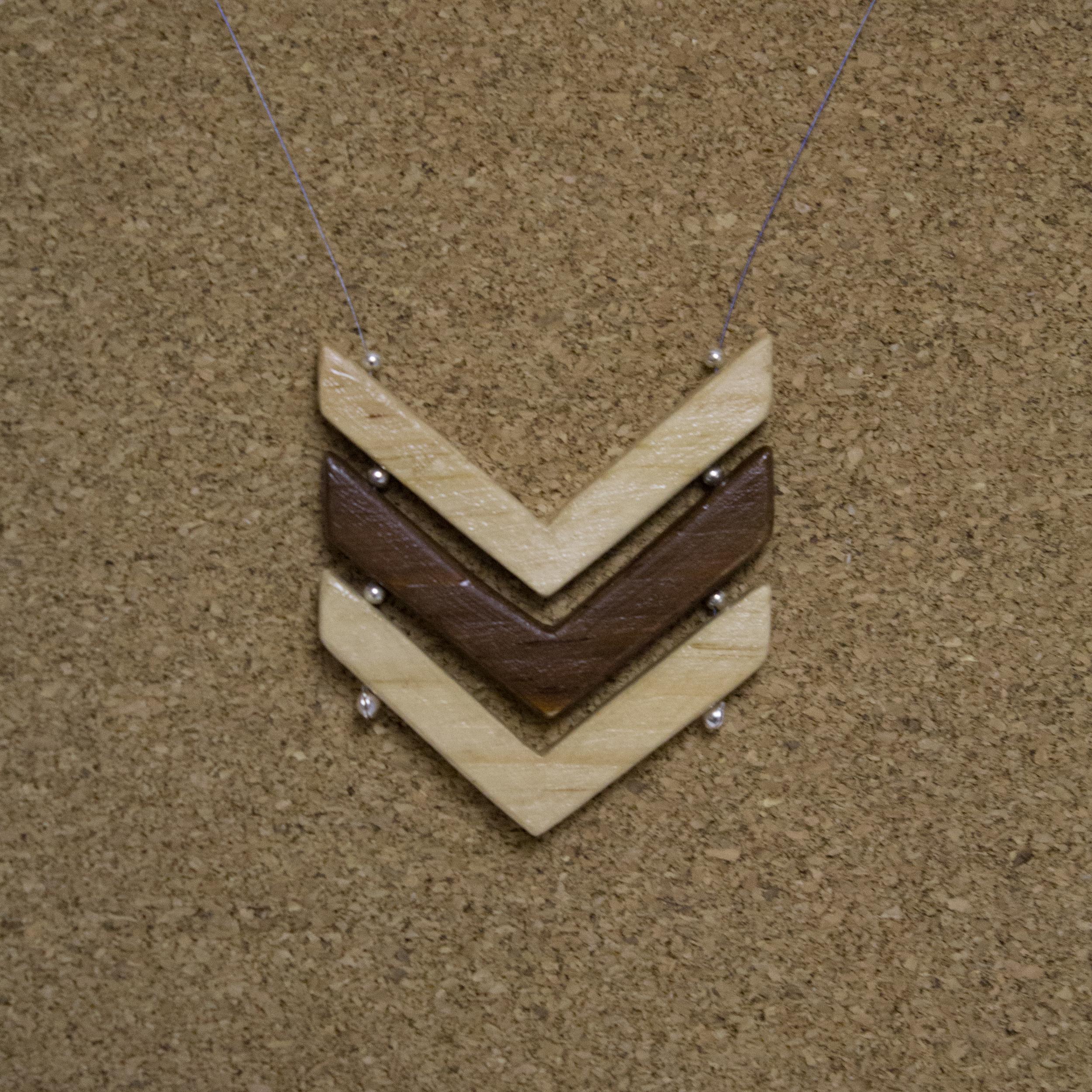 3 Chevron Necklace - $20