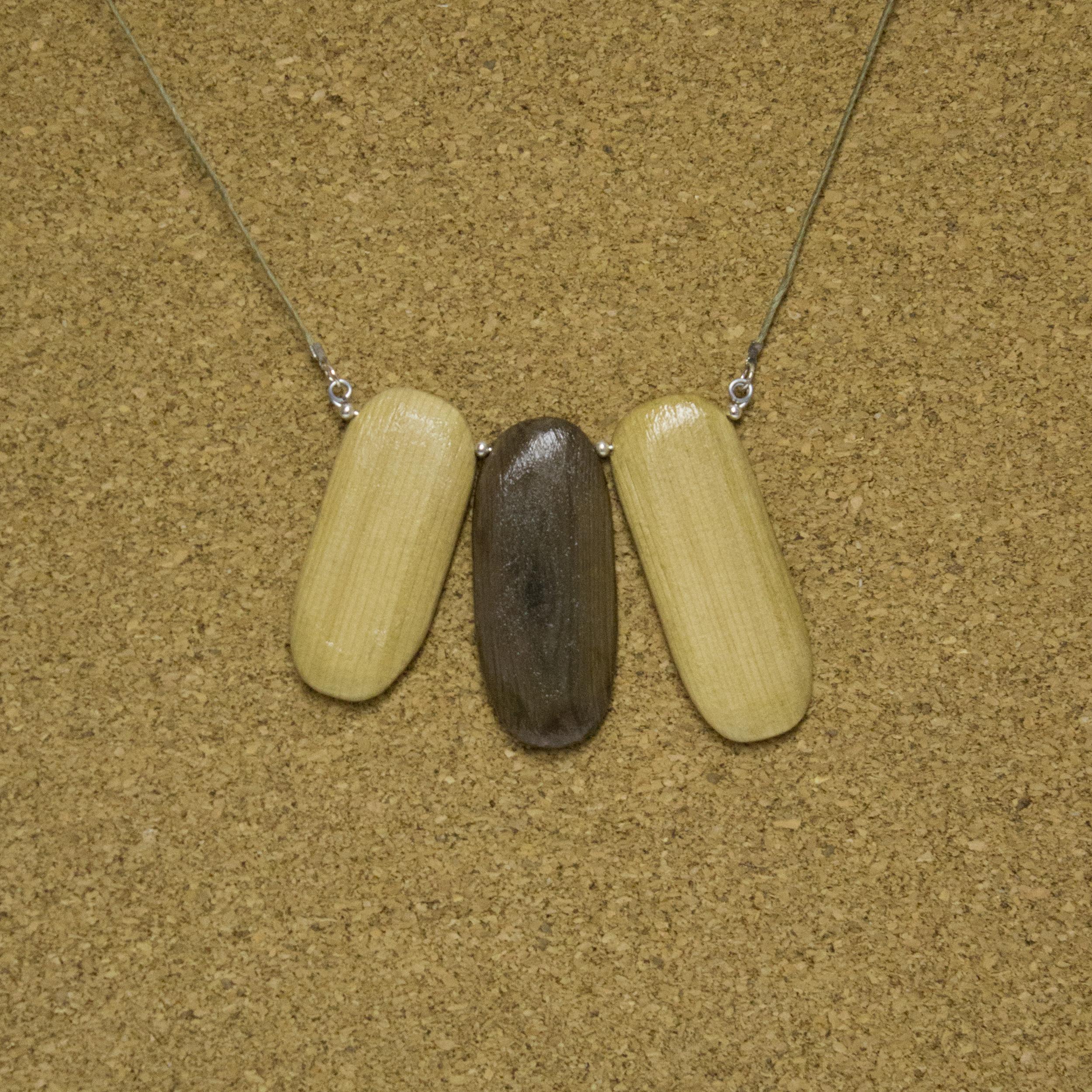 Asymmetrical Wood Stones - $15