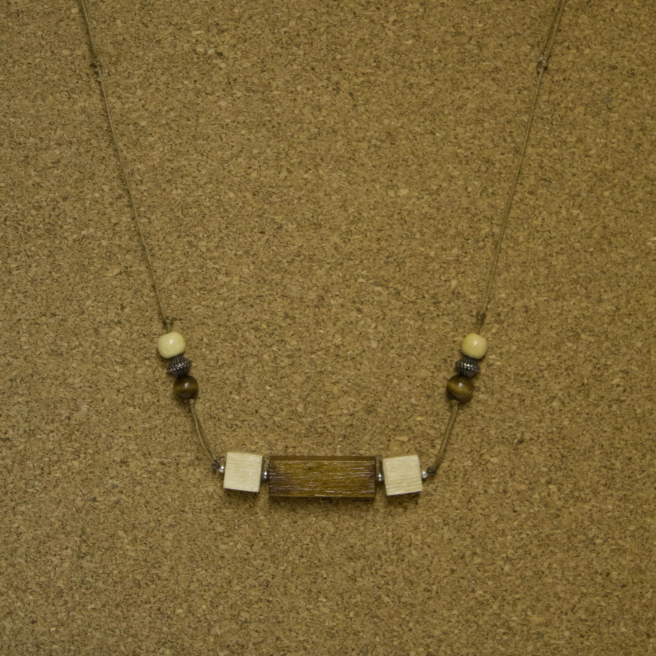 Geo Bridge Wood Beads - $15