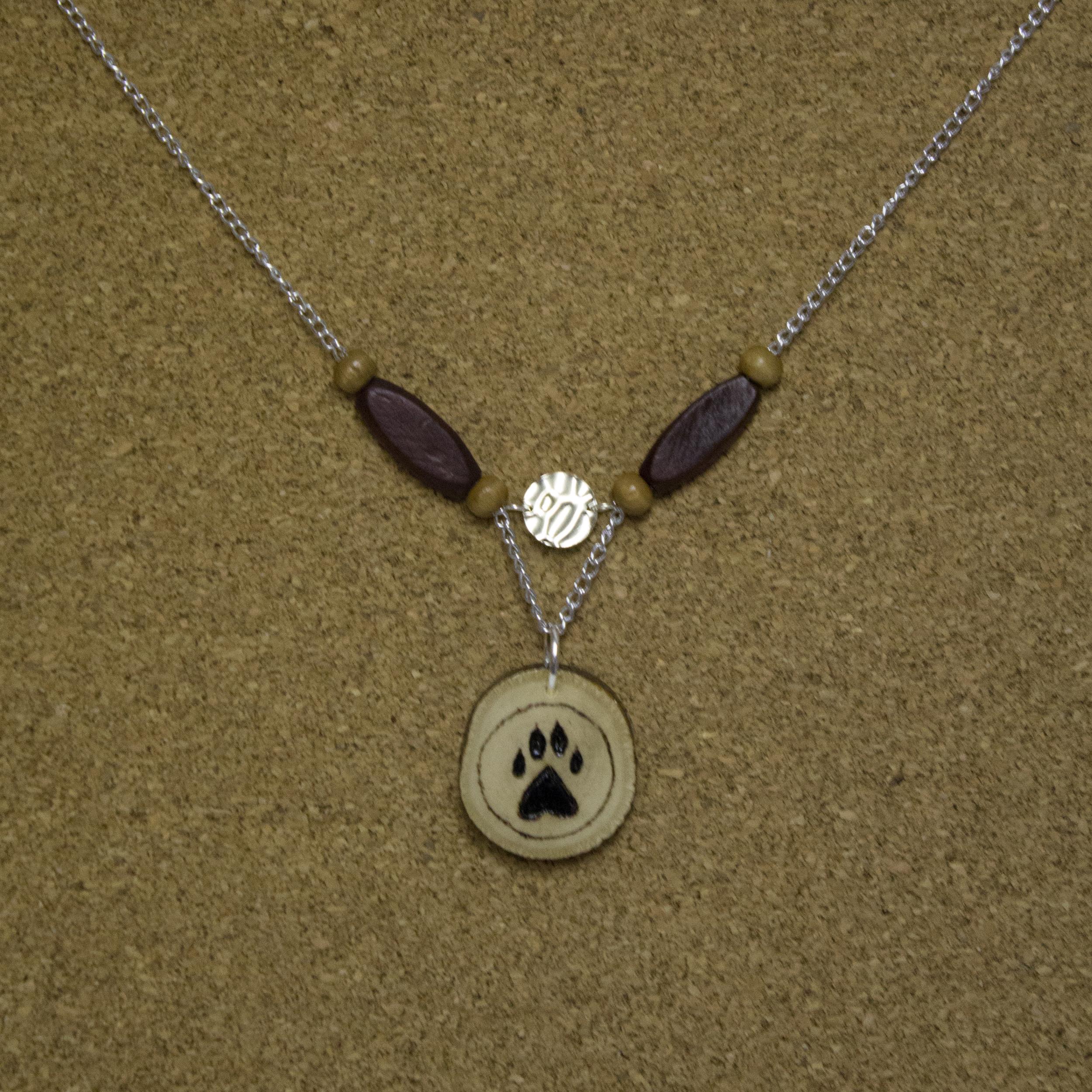 Wood Burned Bear Paw - $15
