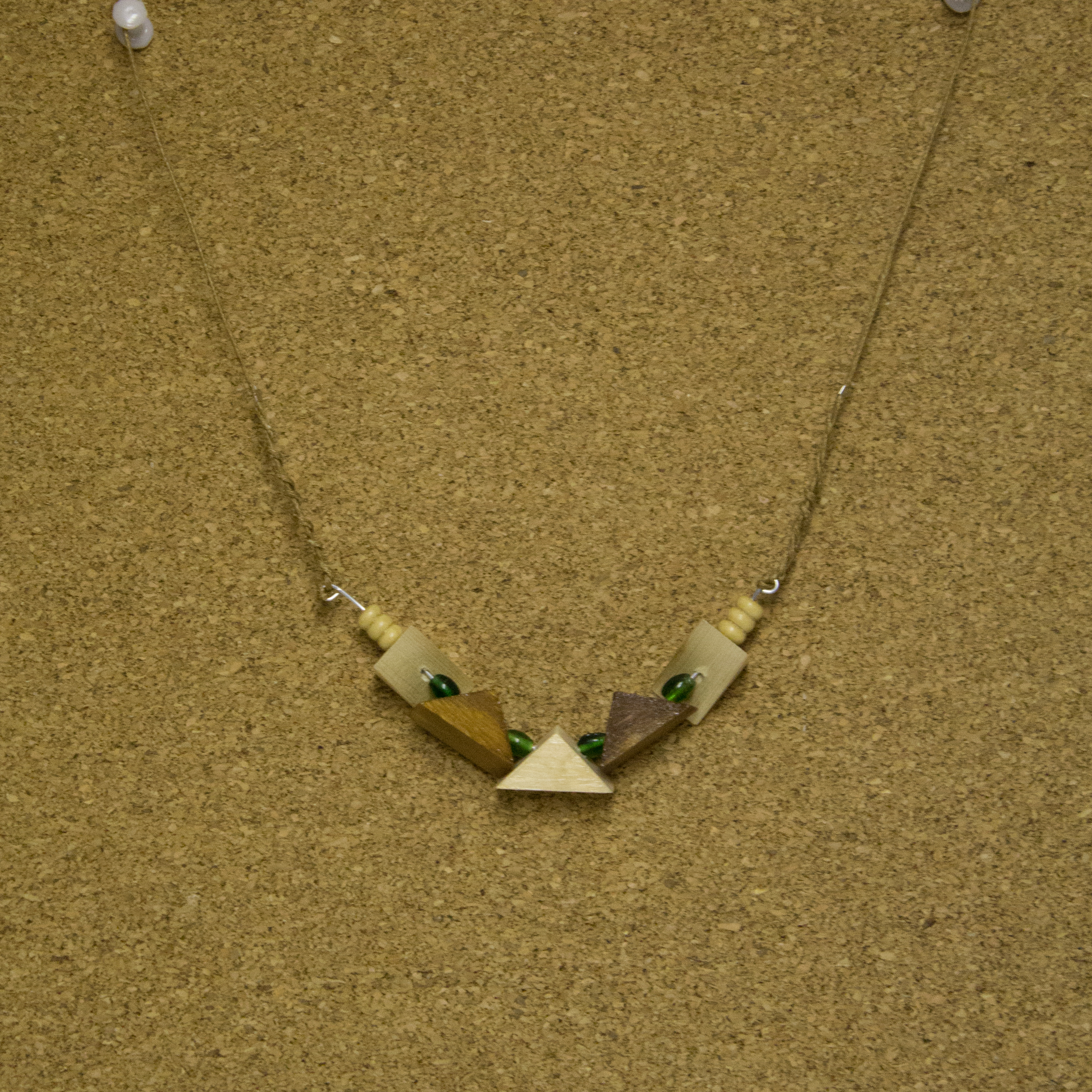 Wood Triangles and Glass beads - $7.50