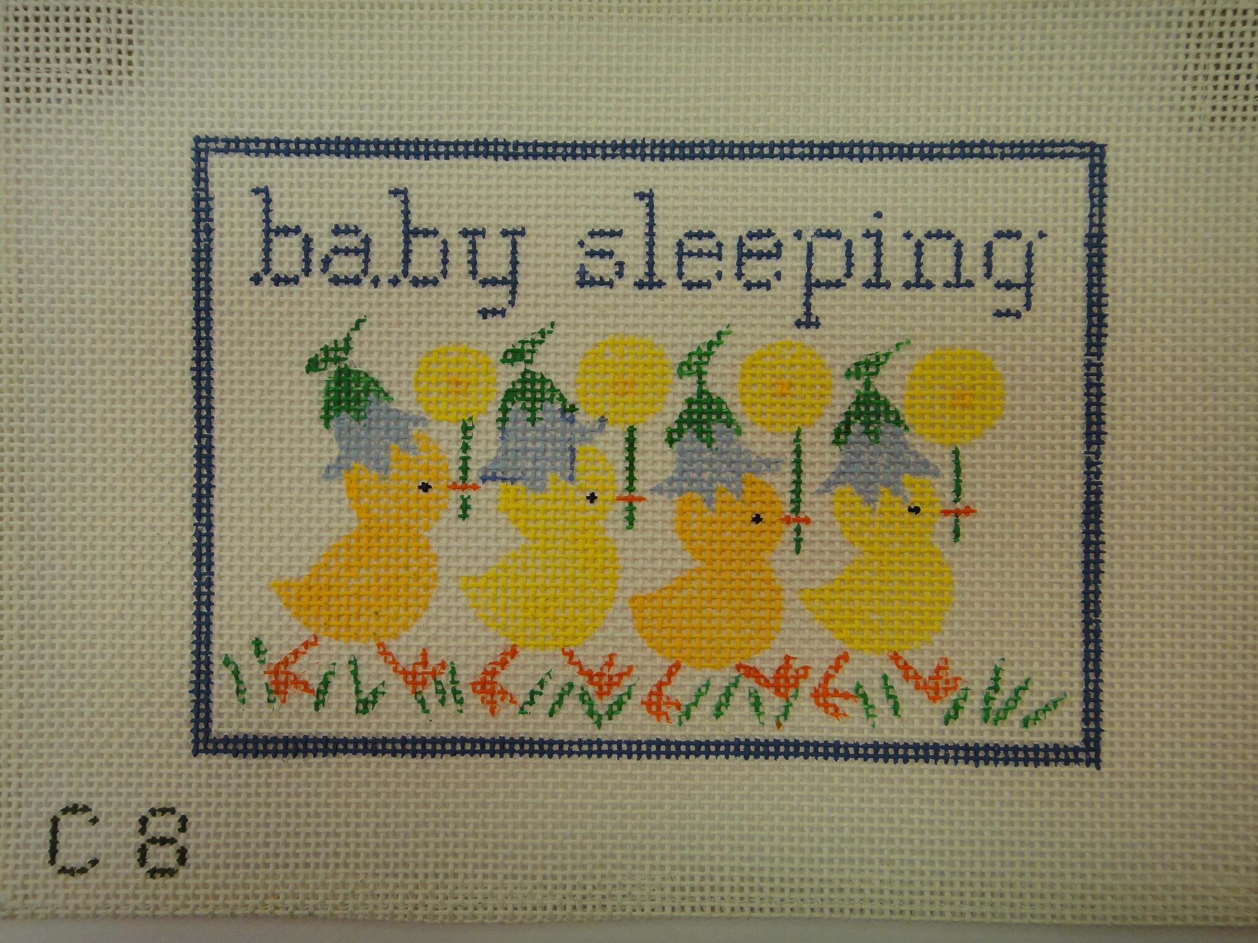 S21A Baby Sleeping with Ducks, Blue (7x5)