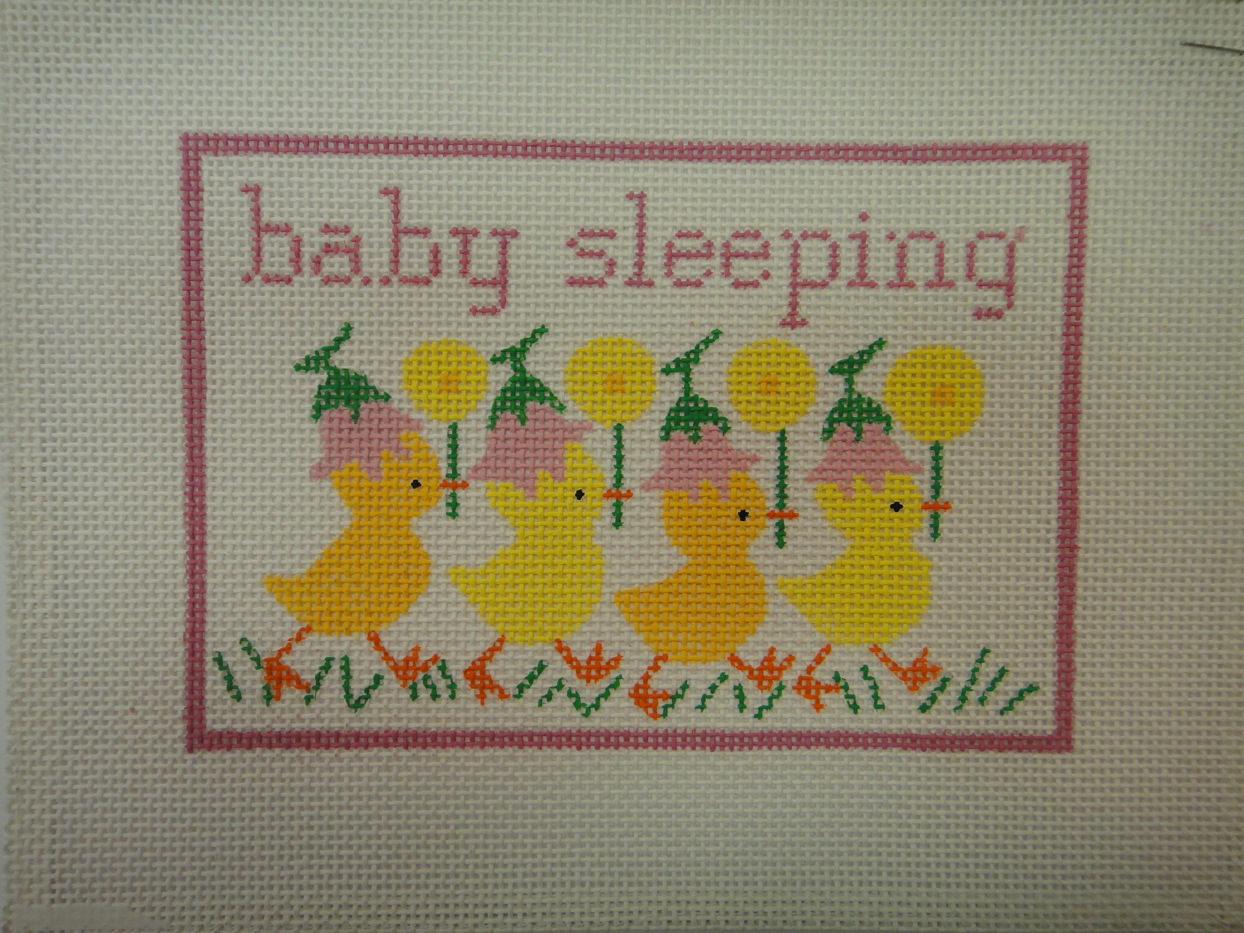 S21B Baby Sleeping with Ducks, Pink (7x5)