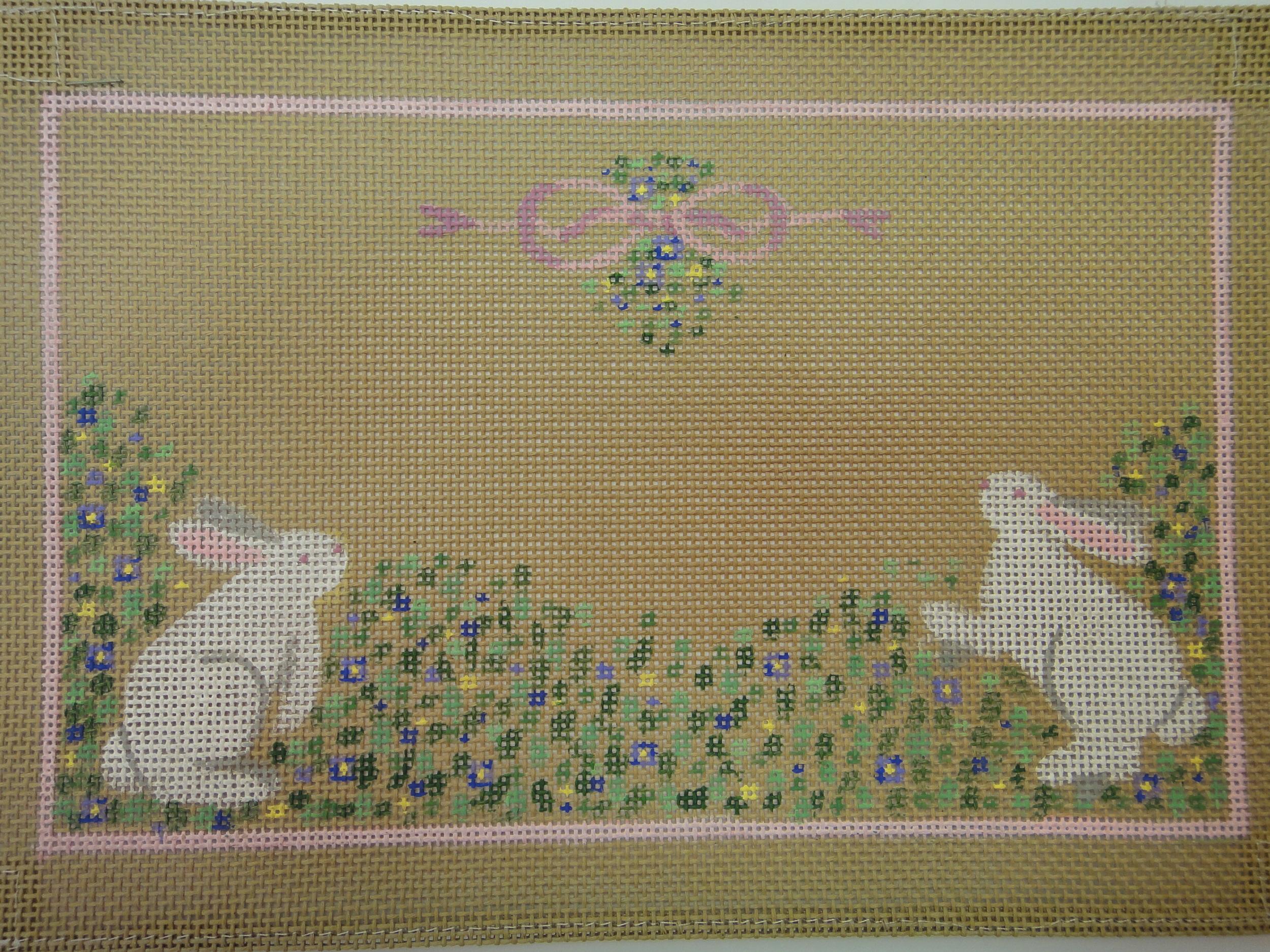 C39 Bunnies Birth Announcement, tan (11x2)