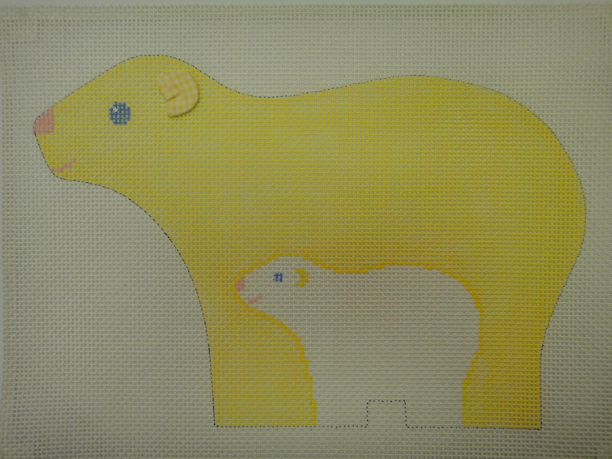 C40A Snow Animals, Polar Bear, 10 mesh (13x8.5)