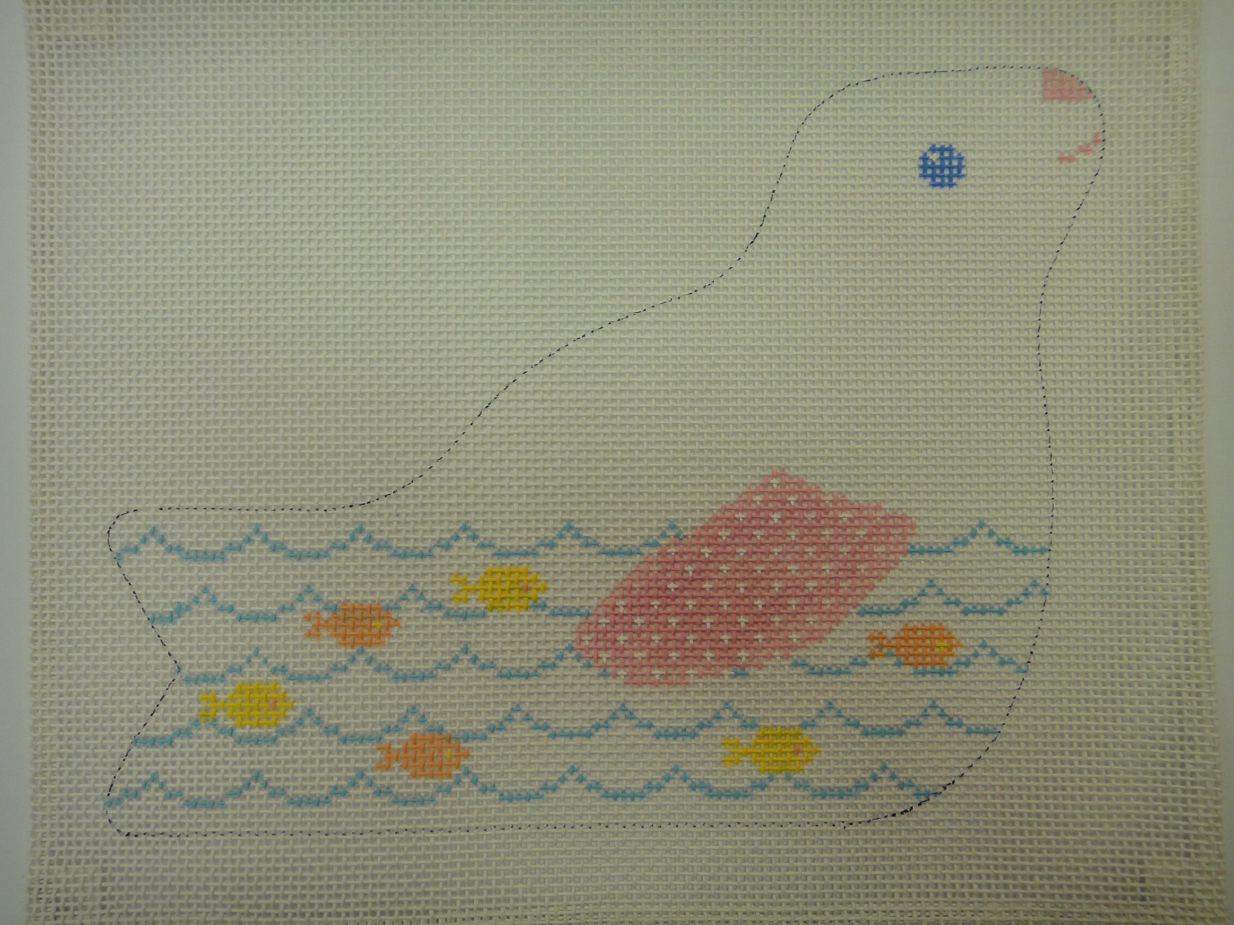 C40C Snow Animals, Seal, 10 mesh (11x8.5)