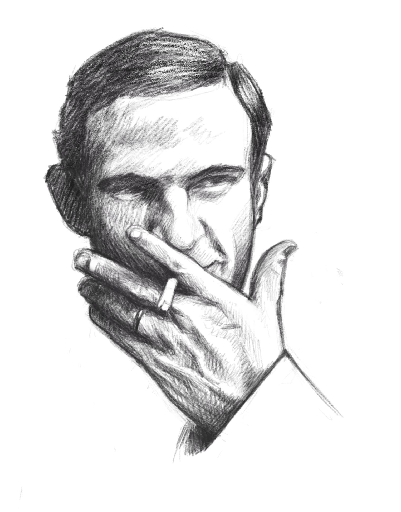 Truffaut portrait by the amazingggggggg Hugo Marmugiiiiiiiiiii