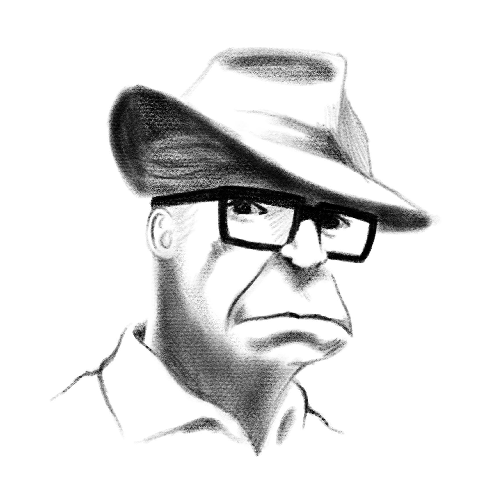 Billy Wilder portrait by the always cool Hugo Marmugi