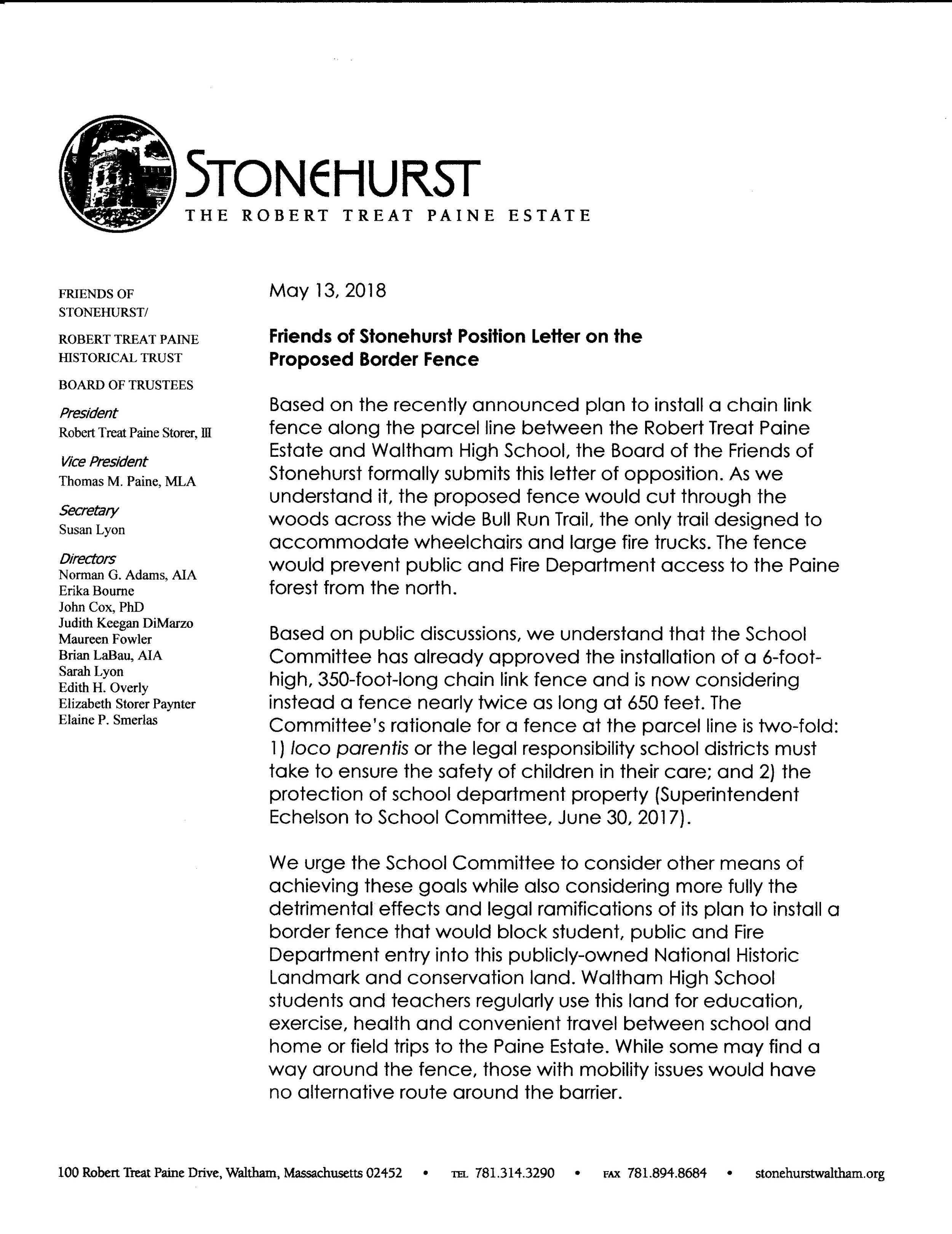 FoS position letter on proposed border fence at WHS jpeg.jpg