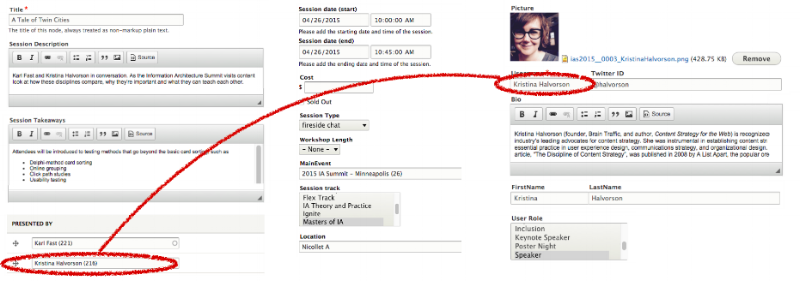 Figure 2: The information is now structured into fields that store the content as data, ready to be used in any context.