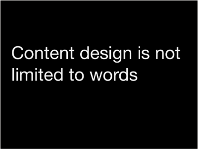 Content is not limited to words