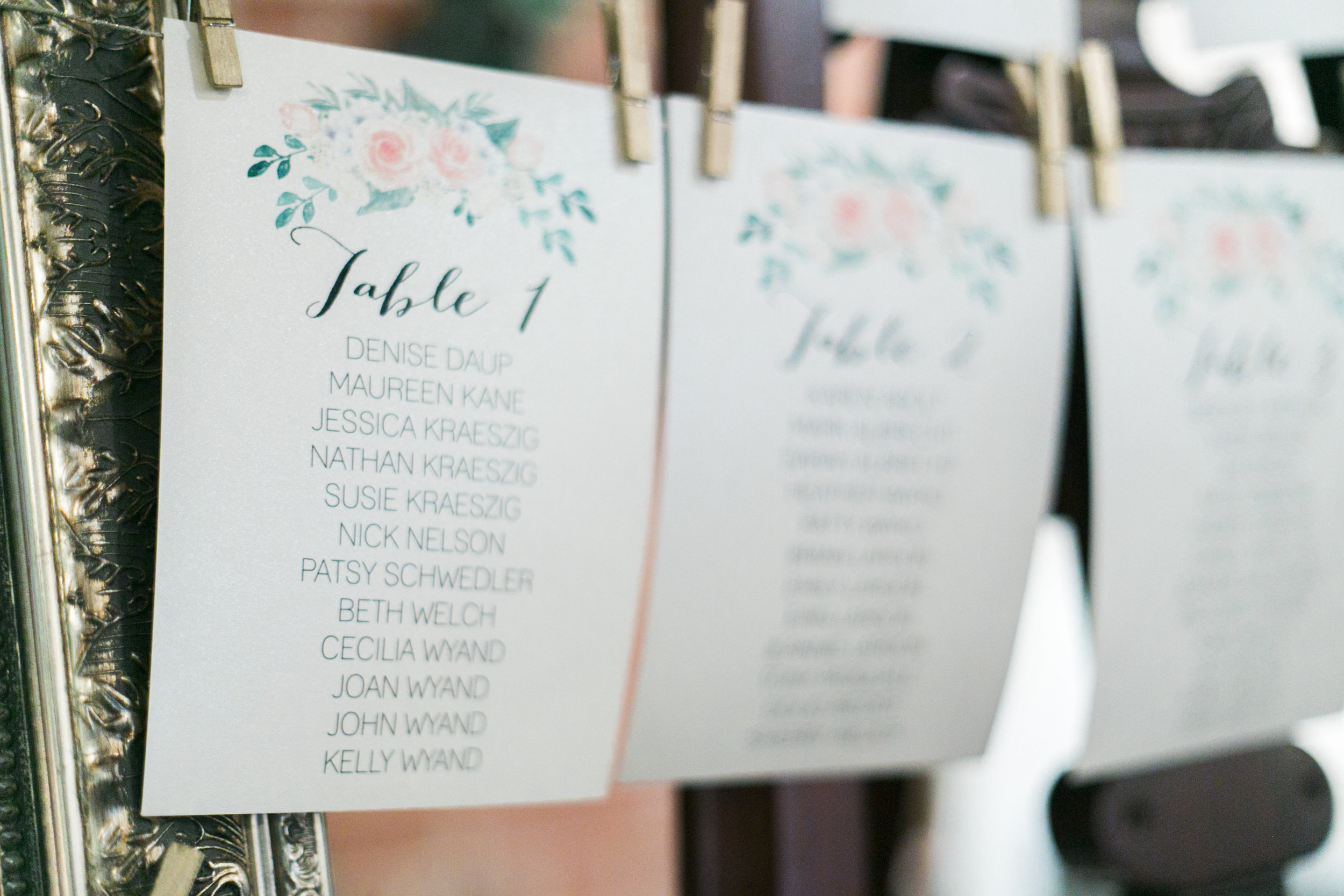 find your seat, table seating chart