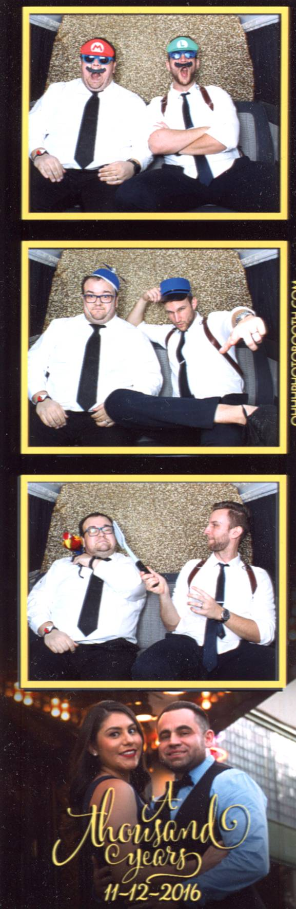 Wedding videographer photo booth