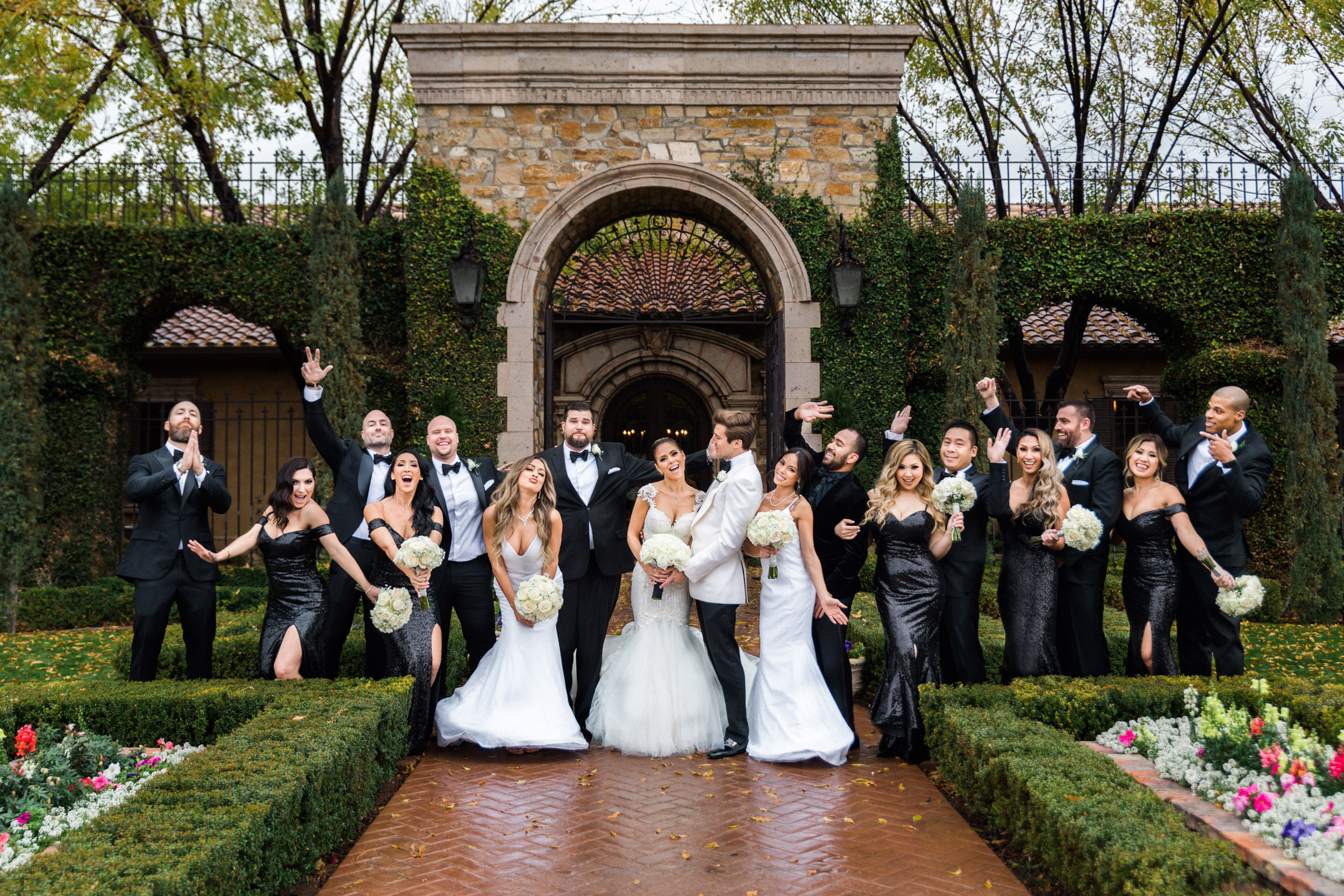 Villa siena wedding fun goofy party photo phoenix arizona