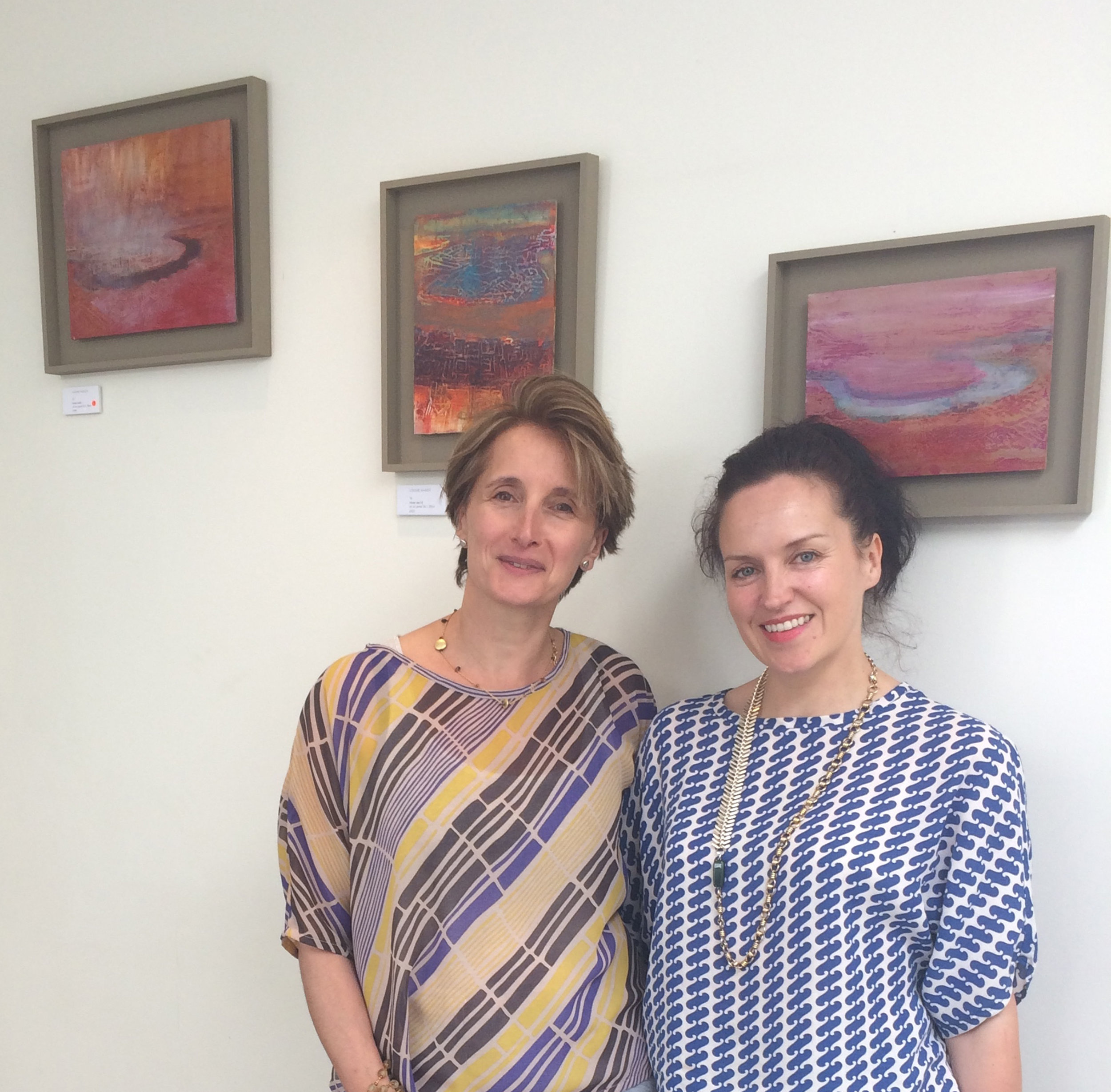 Artist Louise Hardy in her Ledra Lines Original Top + me in Wave neat top