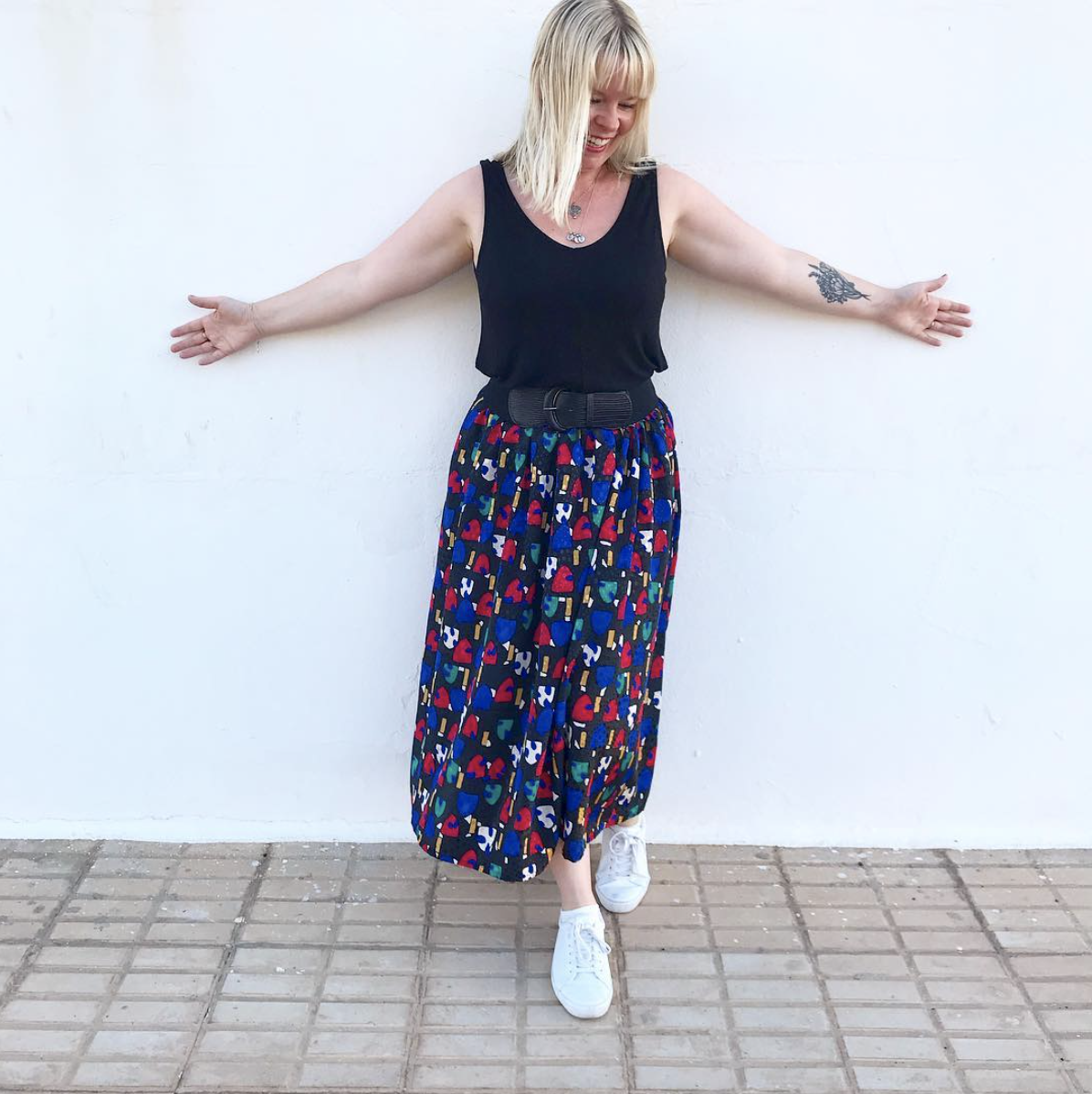 Beccy in her Miro Full Skirt