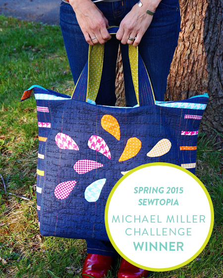 Giedra Bowser Rainbow Bag - Sewtopia Michael Miller Spring 2015  Challenge  Winner