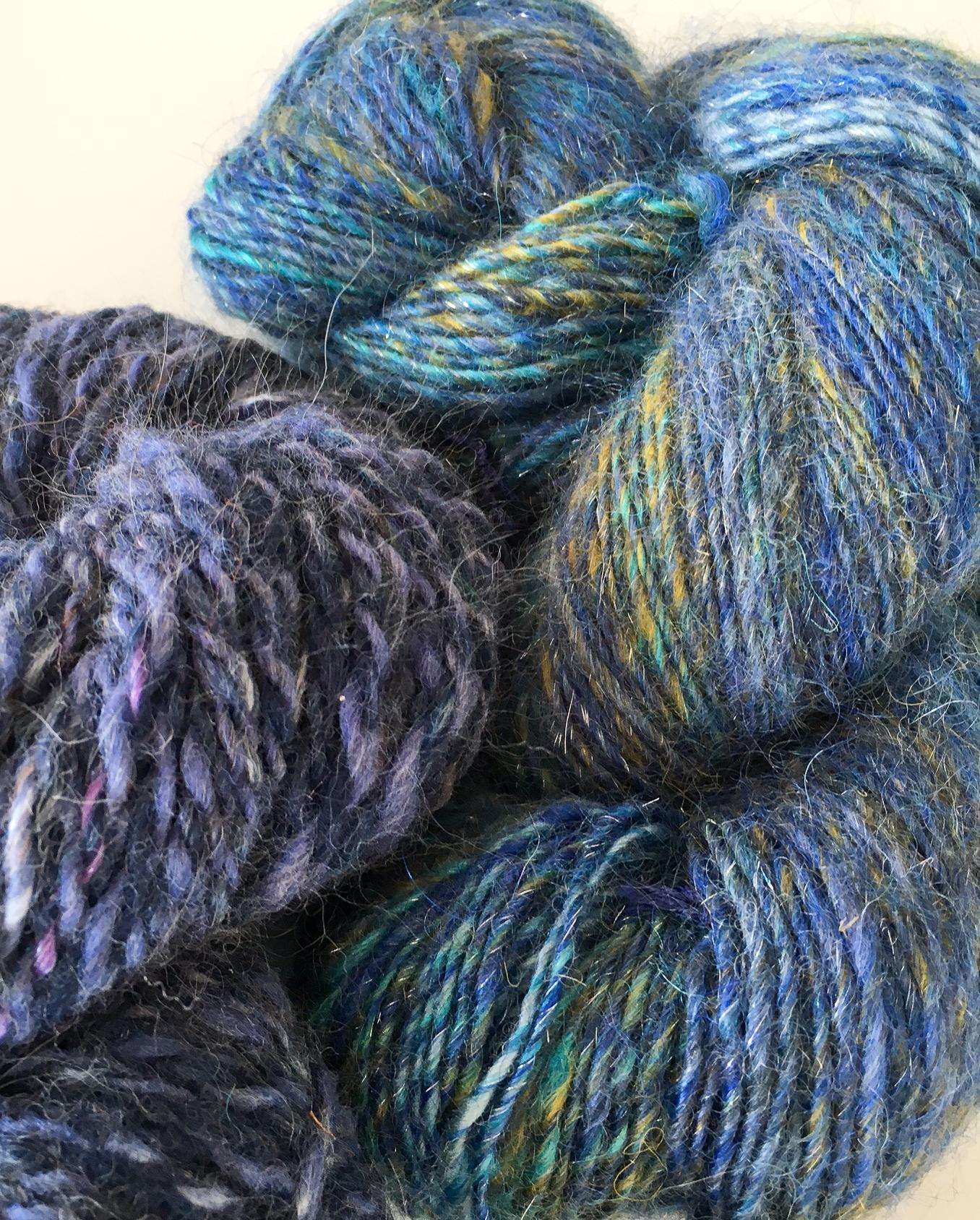 Handspun wool and mohair