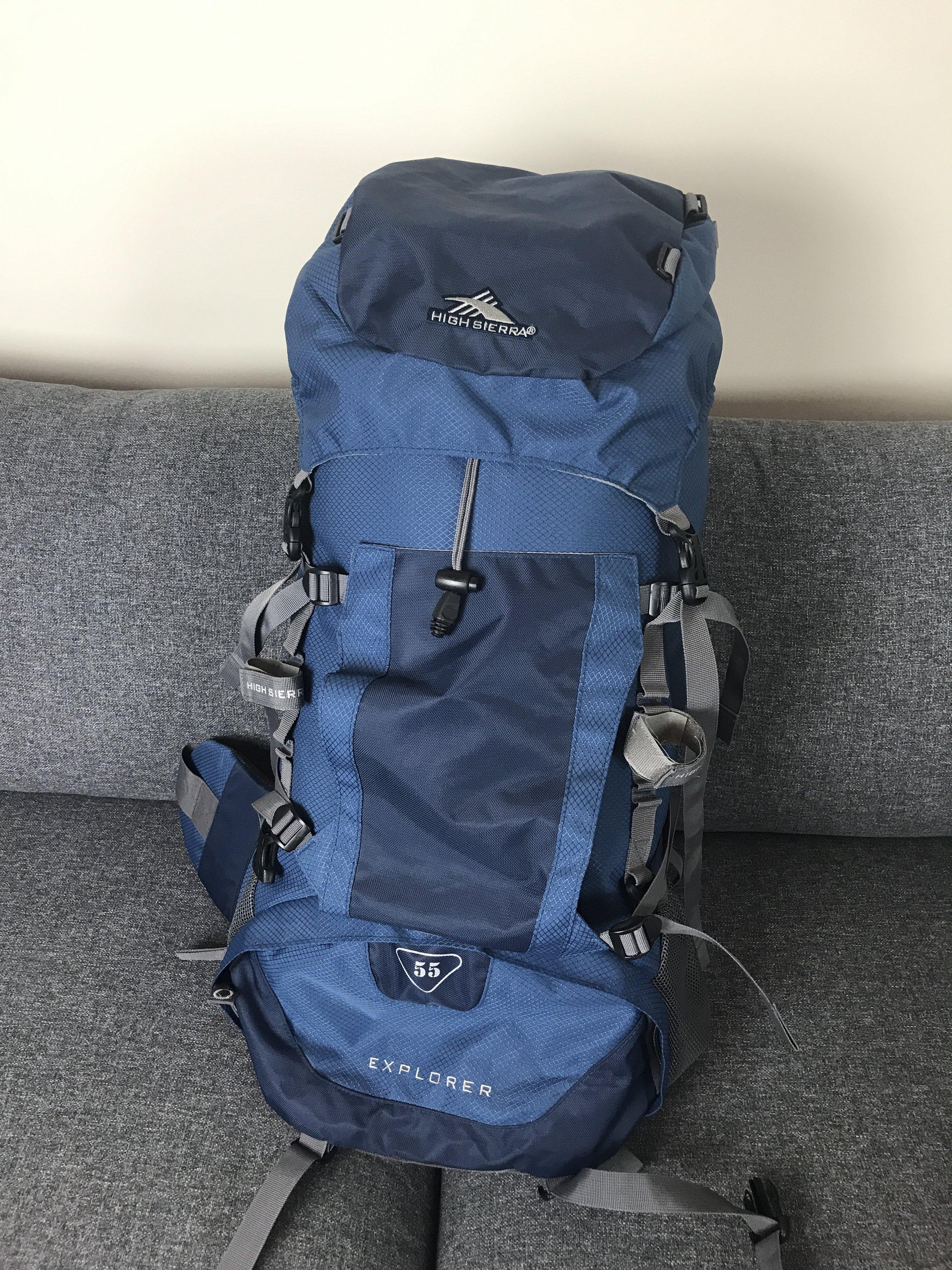 High Sierra 55L backpack