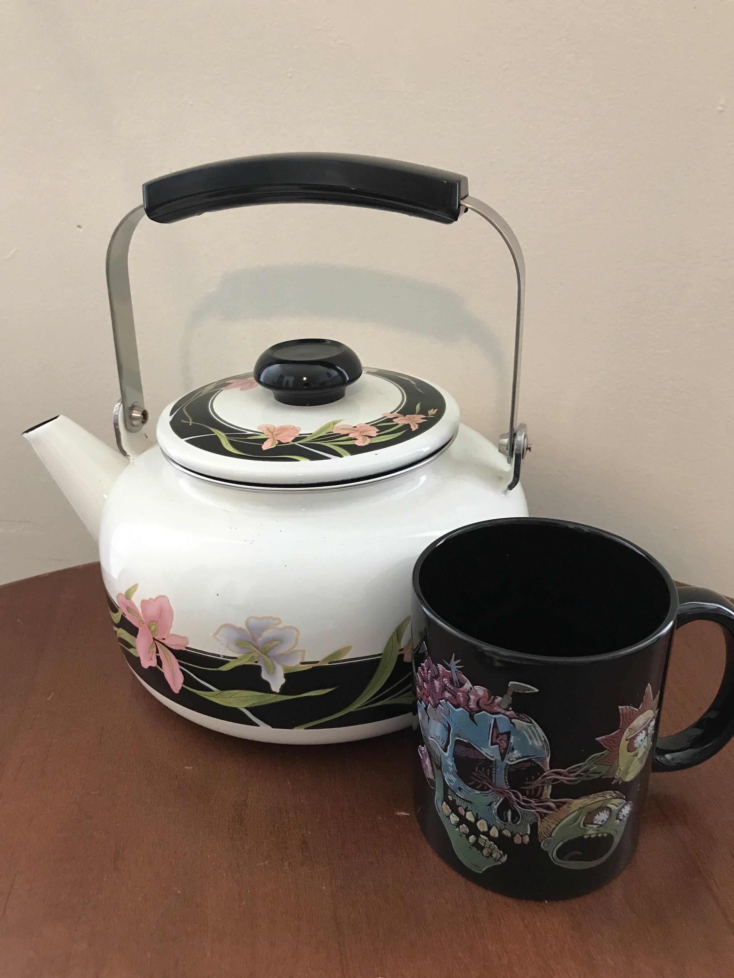 Teapot and Rick & Morty Mug