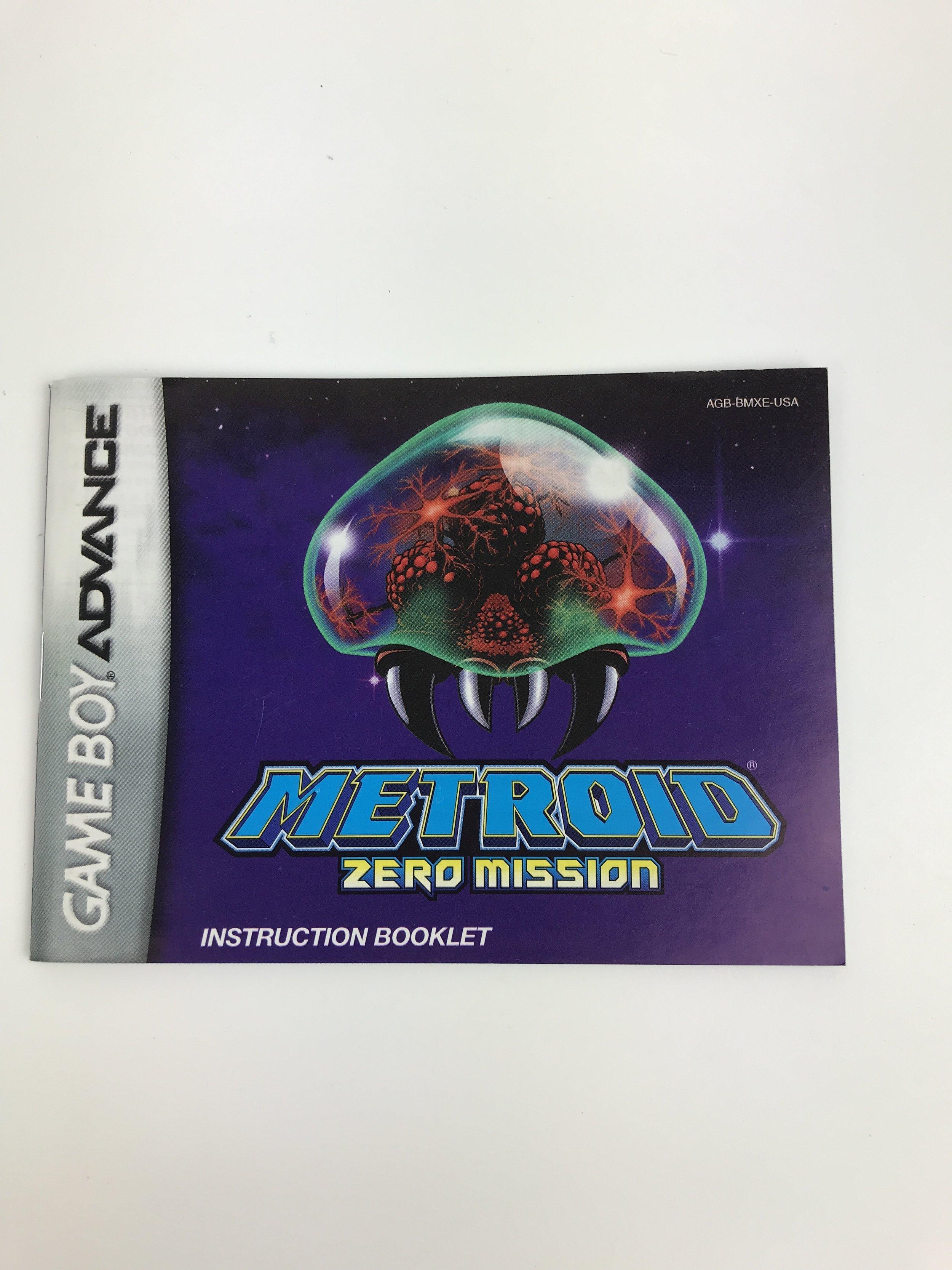 Metroid Gameboy Advance manual
