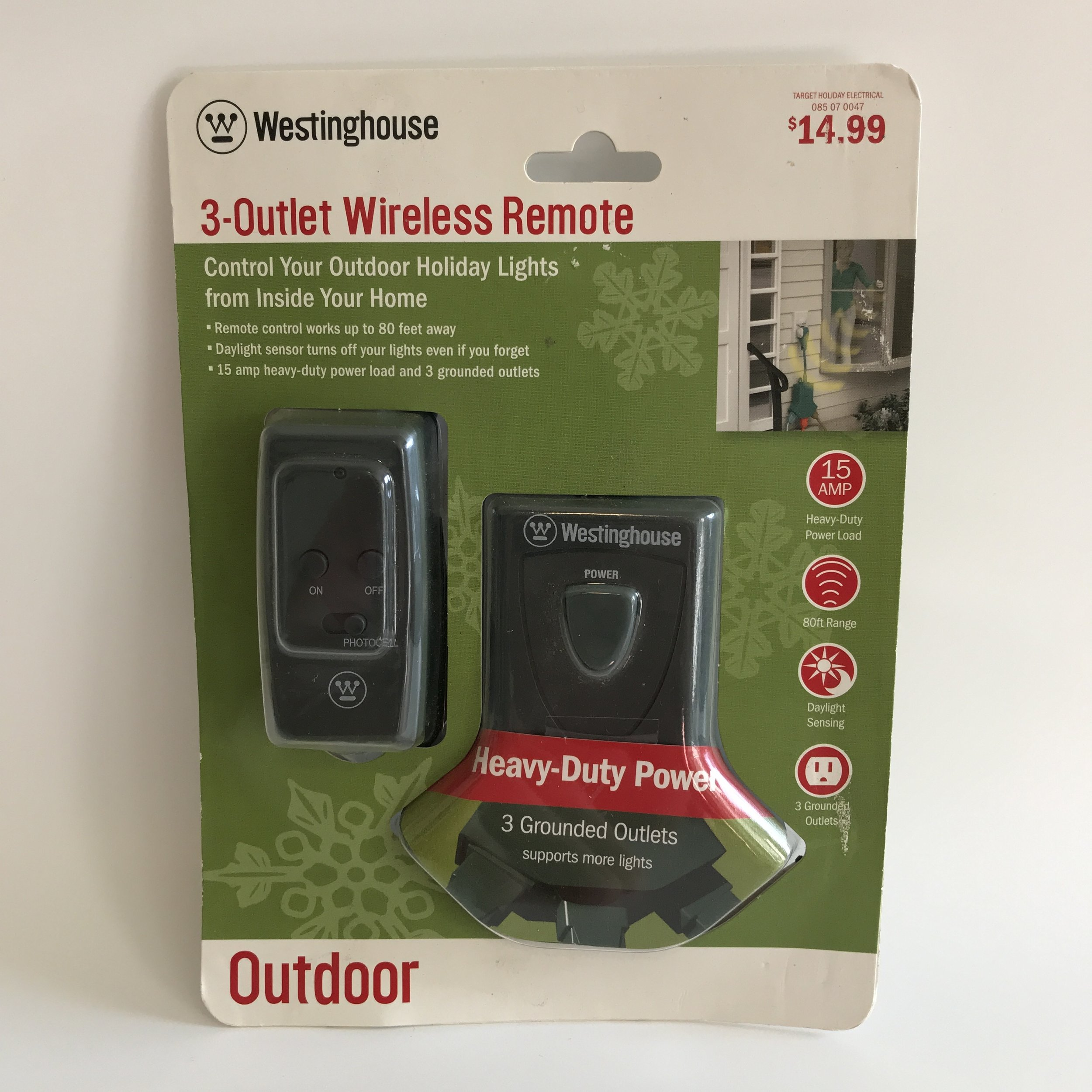 3-outlet wireless remote