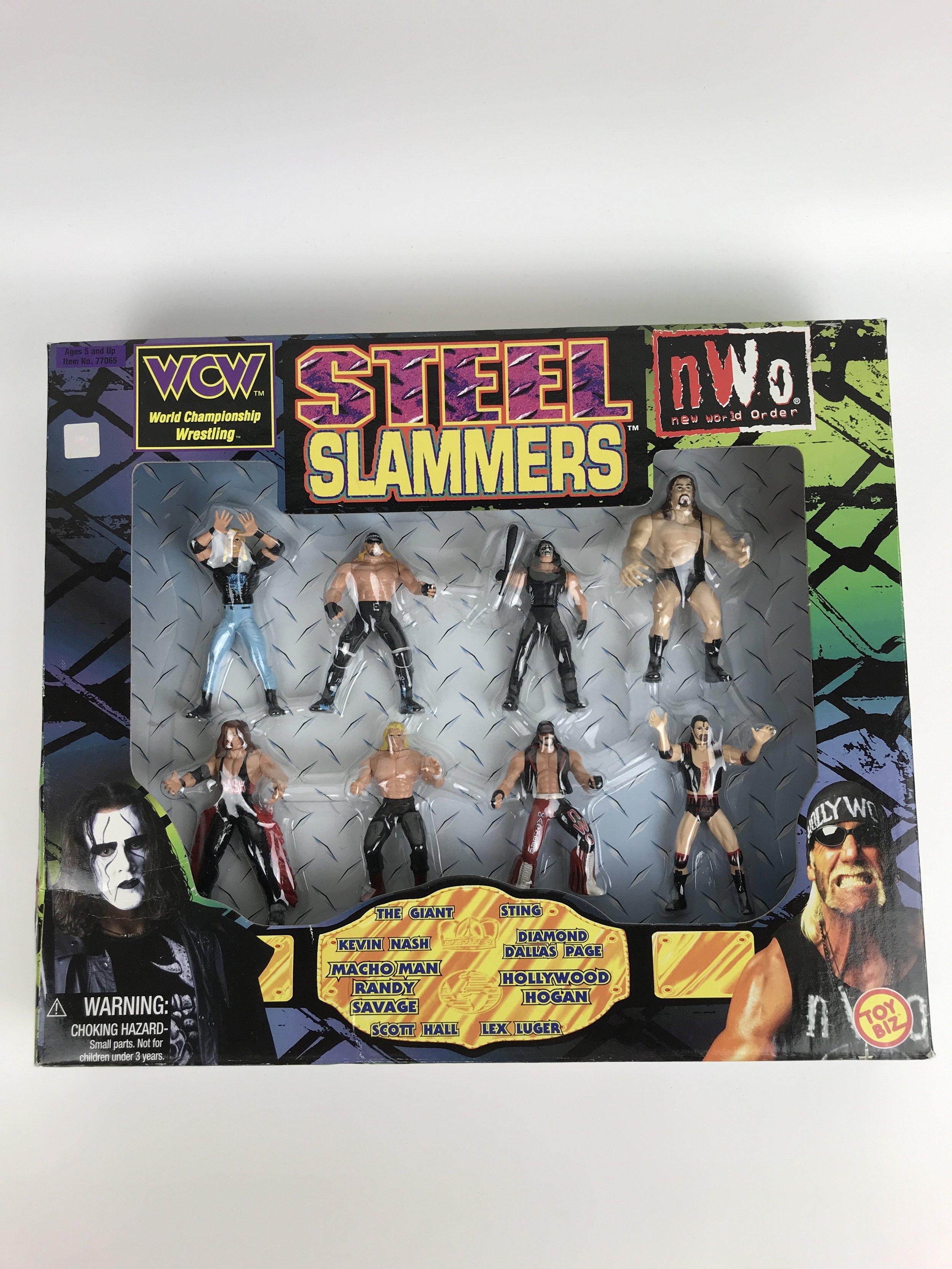 ToyBiz Steel Slammers wrestler set