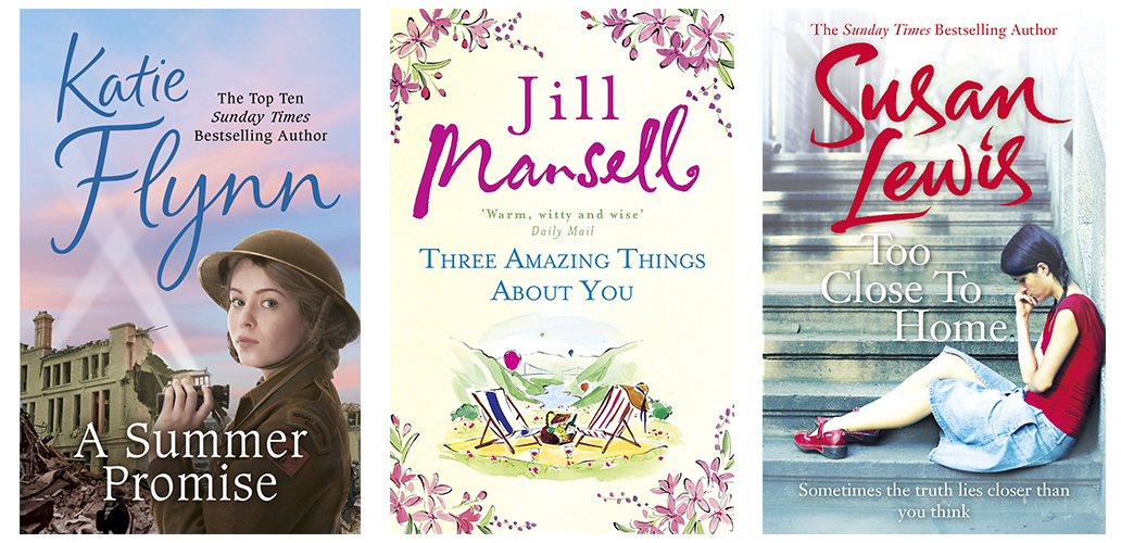 Current romance bestsellers on Waterstones