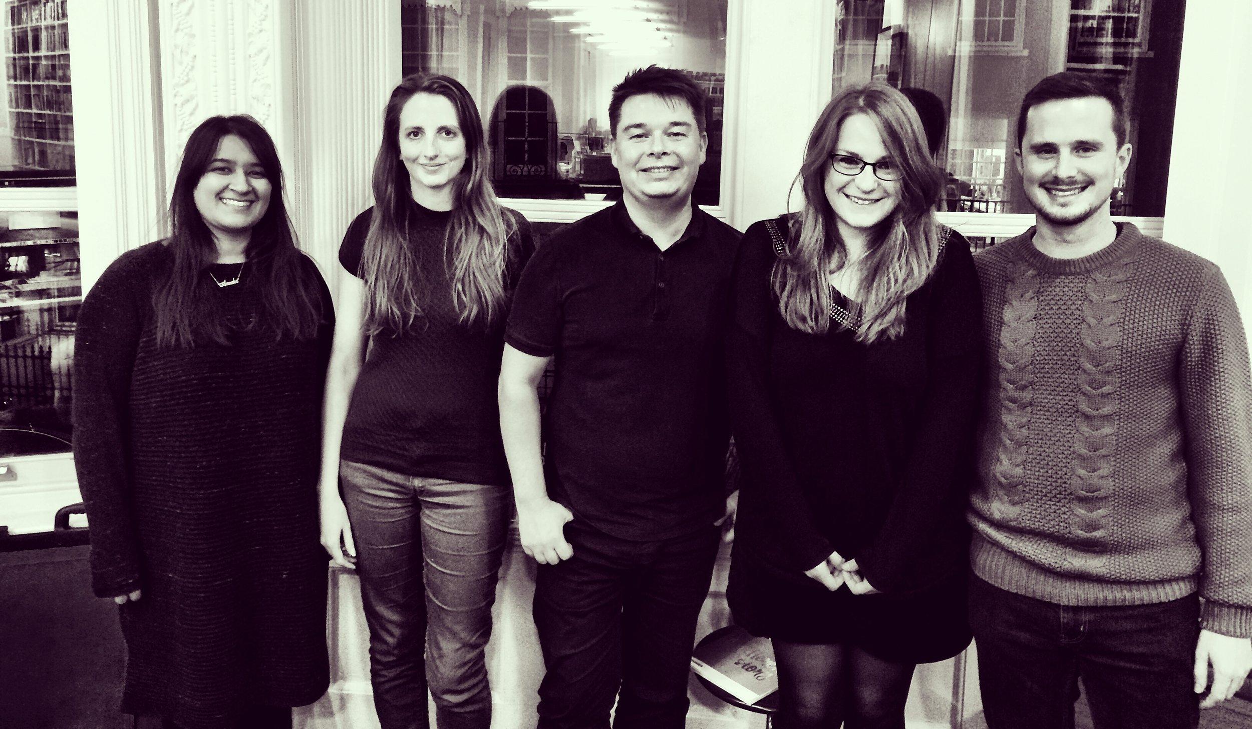 From left to right: Anneka Sandher, Cherie Chapman, Nick Stearn, Alexandra Allden, Lewis Csizmazia