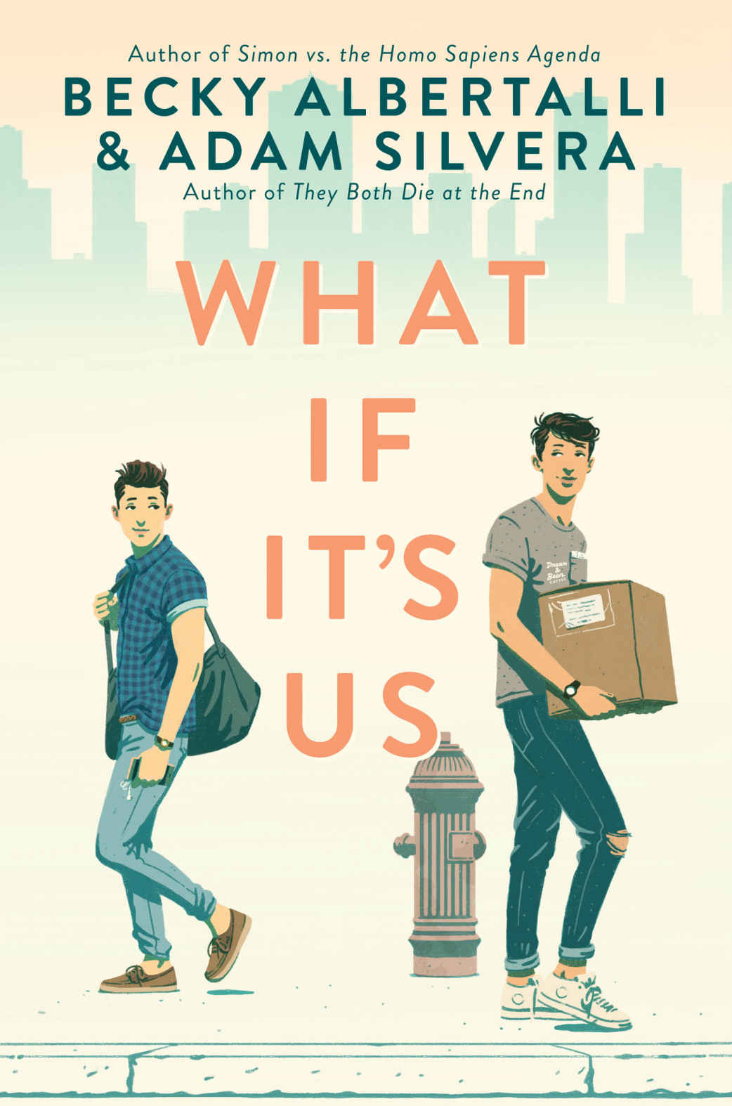 Illustration for What If It's Us, Cover Design: Erin Fitzsimmons
