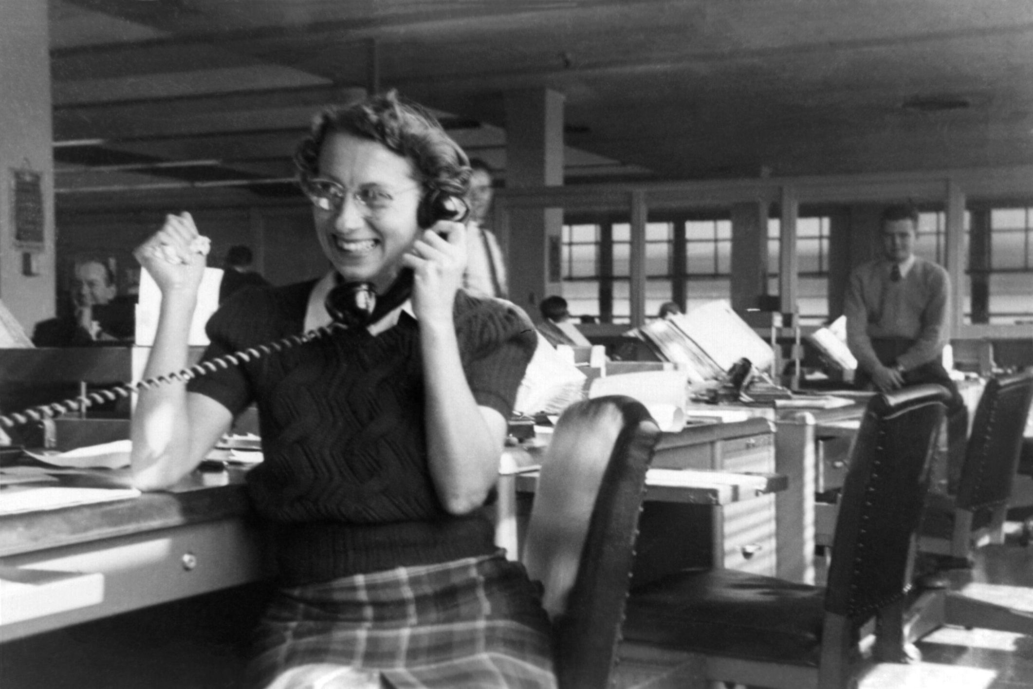 Yep, you've probably guessed. that isn't us on the phone!But we reckon we are just as happy when our clients call us.