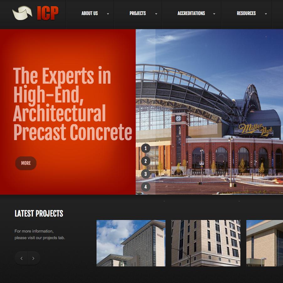 International Concrete Products Website