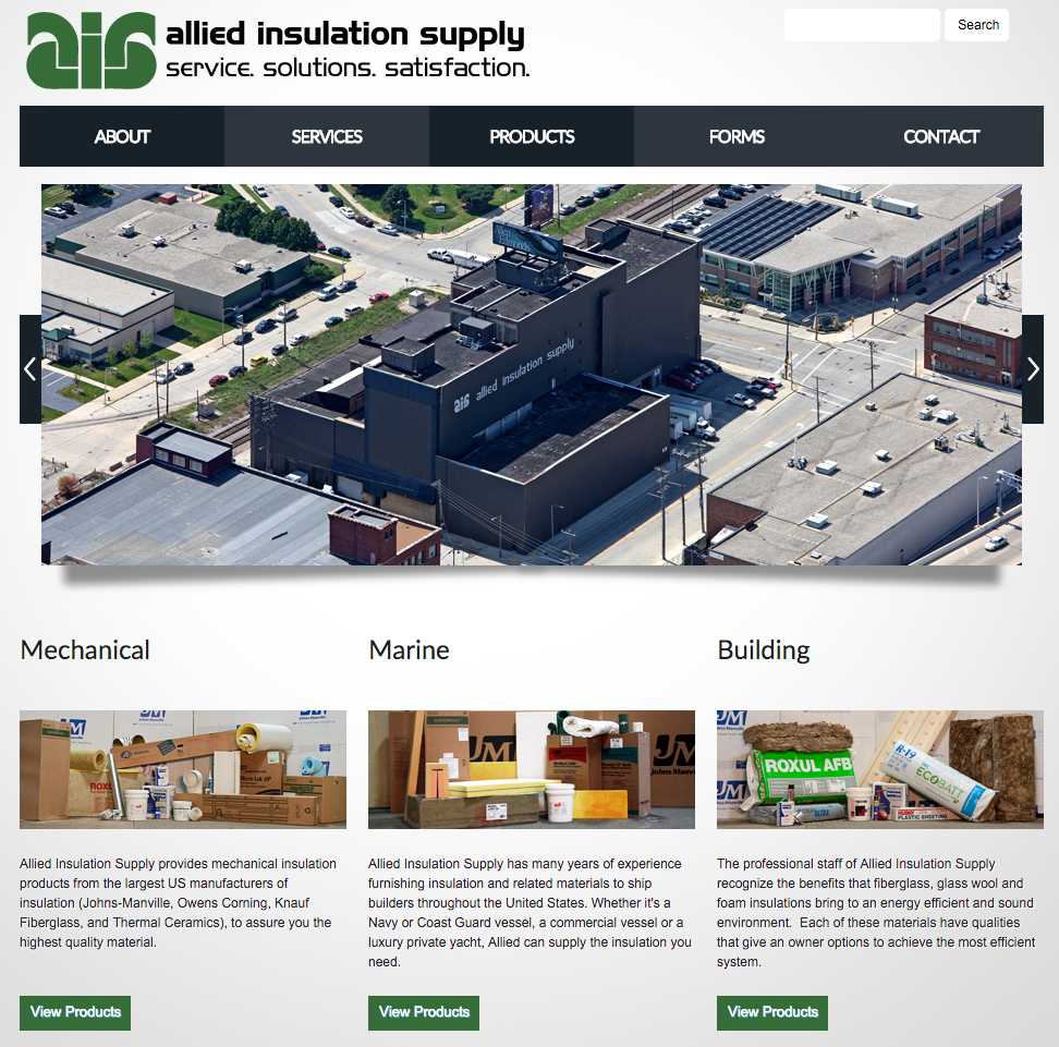 Allied Insulation Supply Website