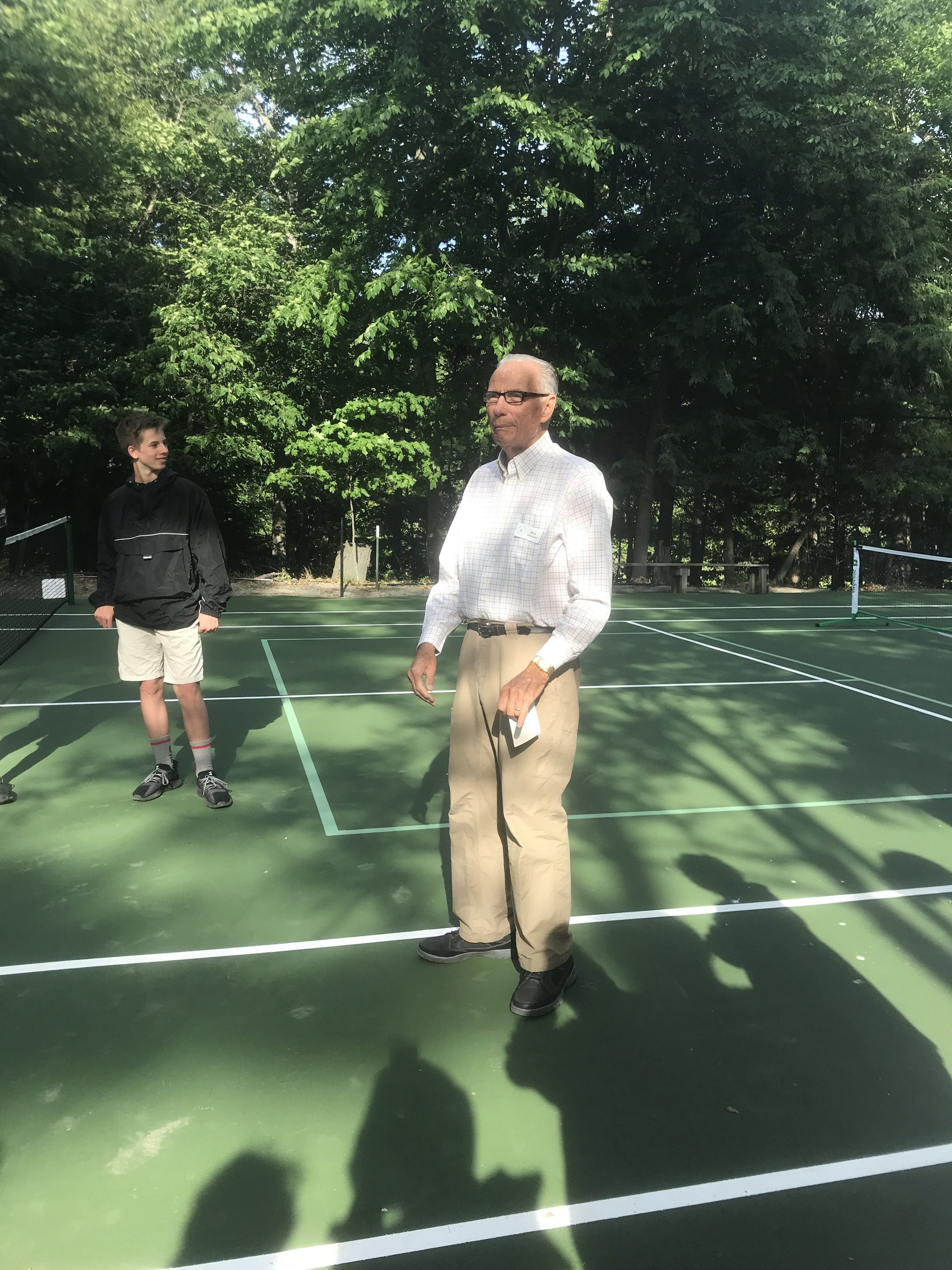 Bob Gelakoski Rededicates the courts
