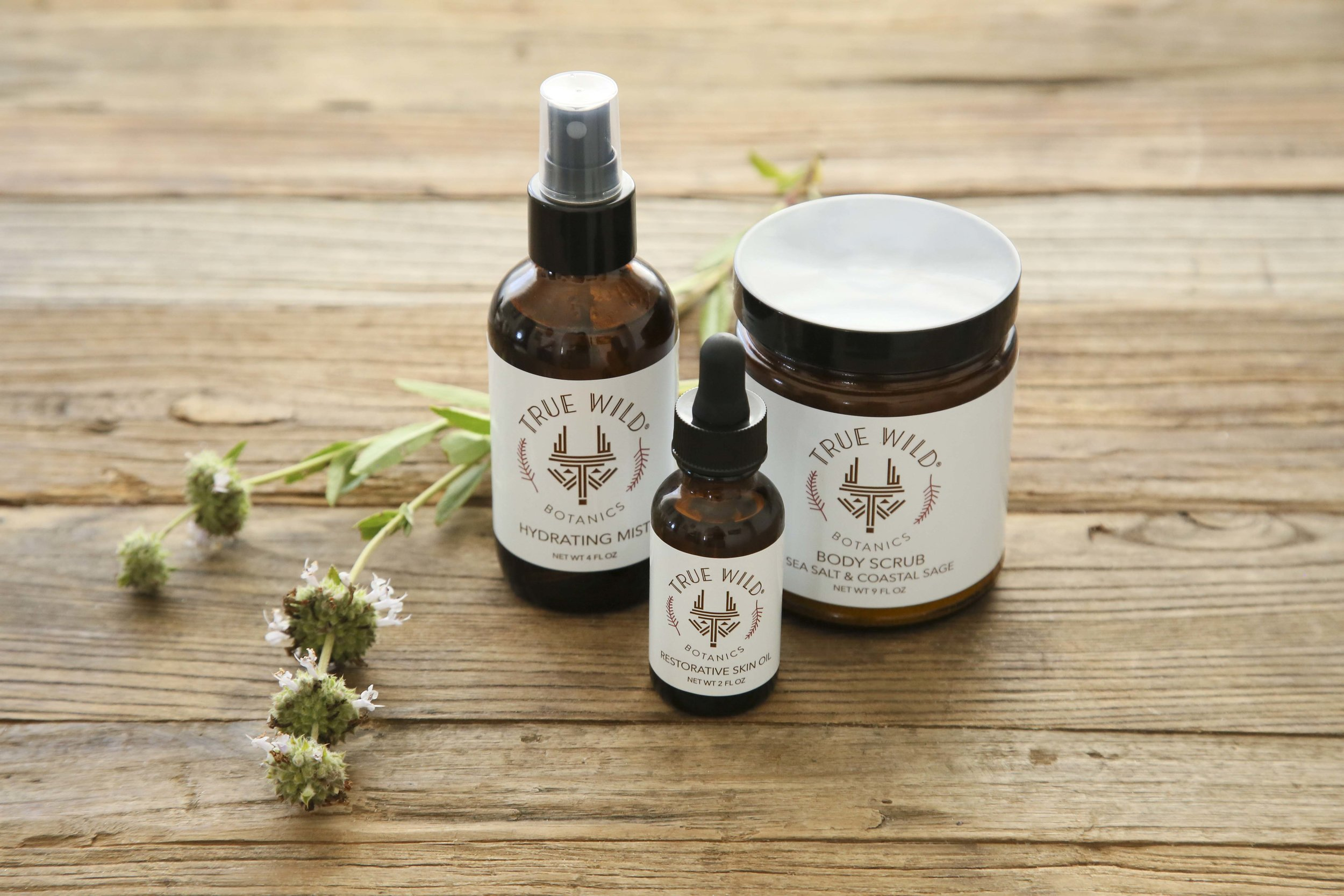 True Wild Botanics-Hydrating Mist-Restorative Skin Oil-Sea Salt and Coastal Sage Scrub