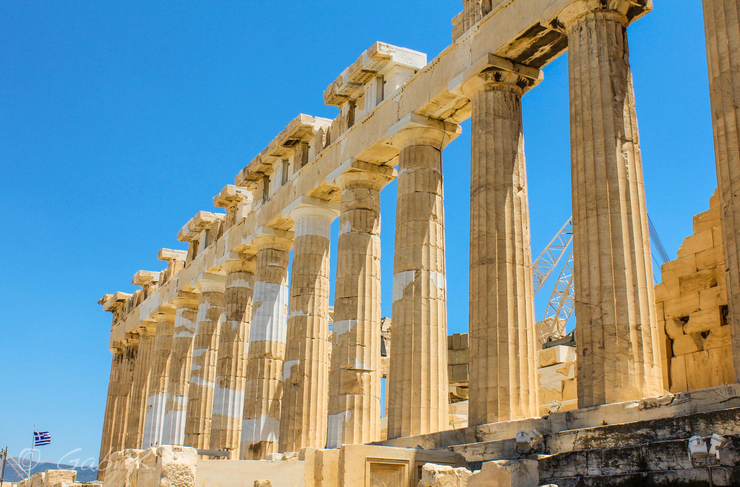 The Parthenon, temple dedicated to the goddess Athena