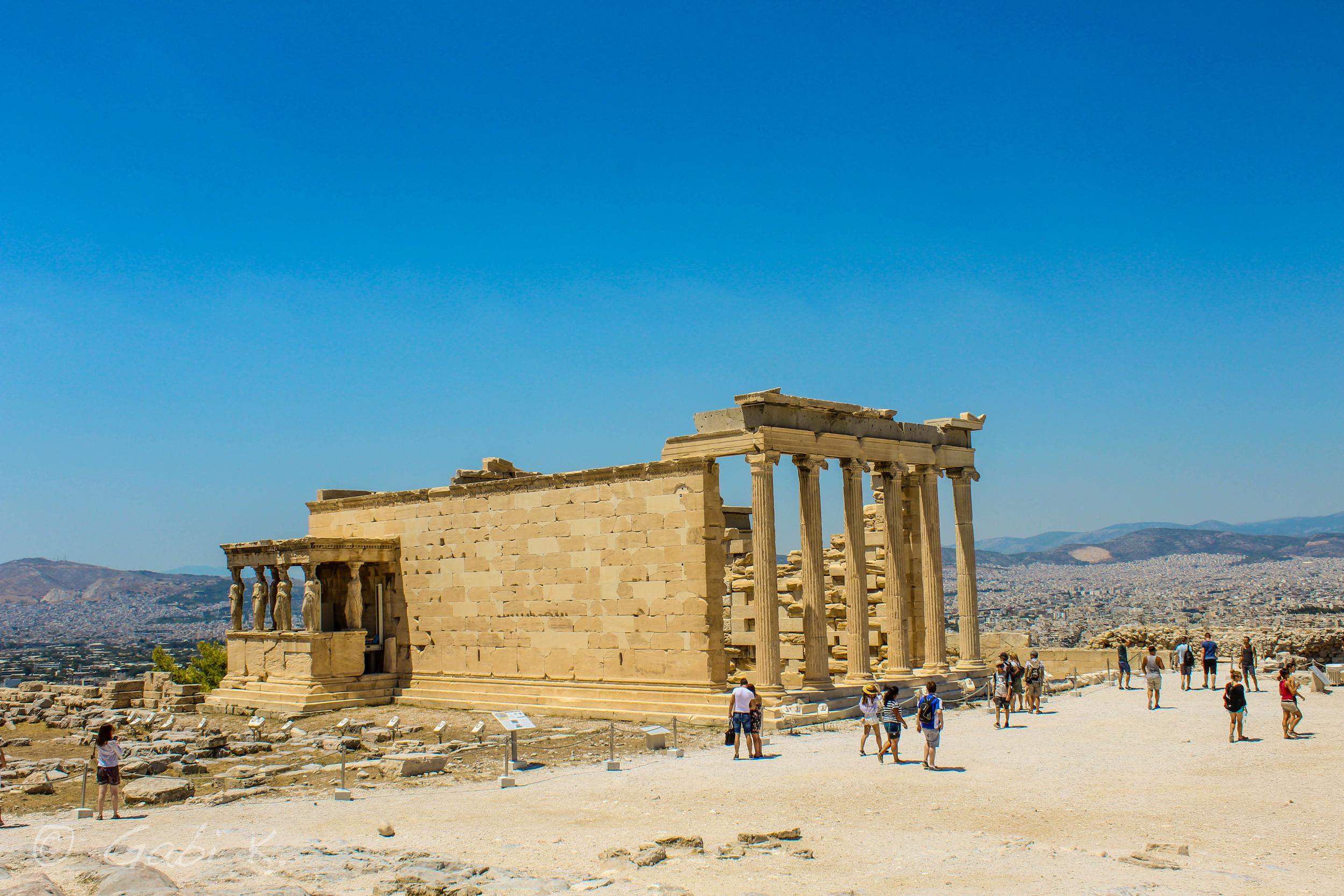 Erechtheum - a temple dedicated to both Athena and Poseidon