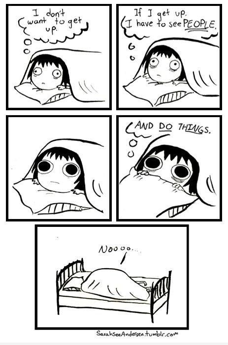 Check out http://sarahcandersen.com/. Seriously. It's all so ridiculously on point. #bestcomic