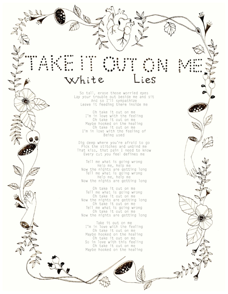 Take it Out on Me - White Lies