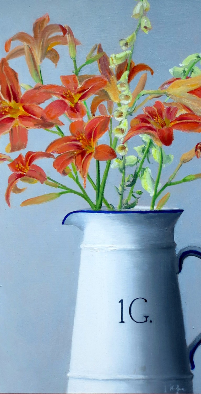 Daylilies in a Jug
