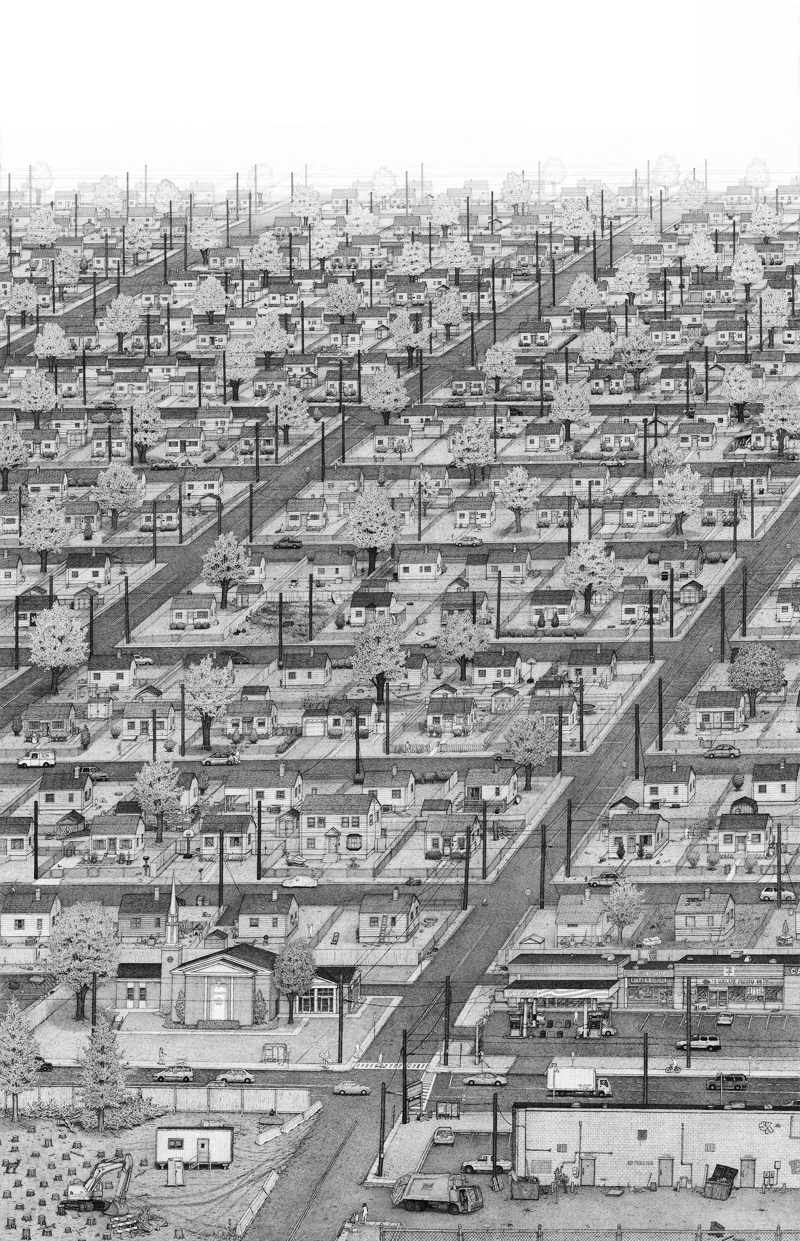 "Ben Tolman - ""An Artist's Dark But Loving Graphic Ode to Suburbia"""
