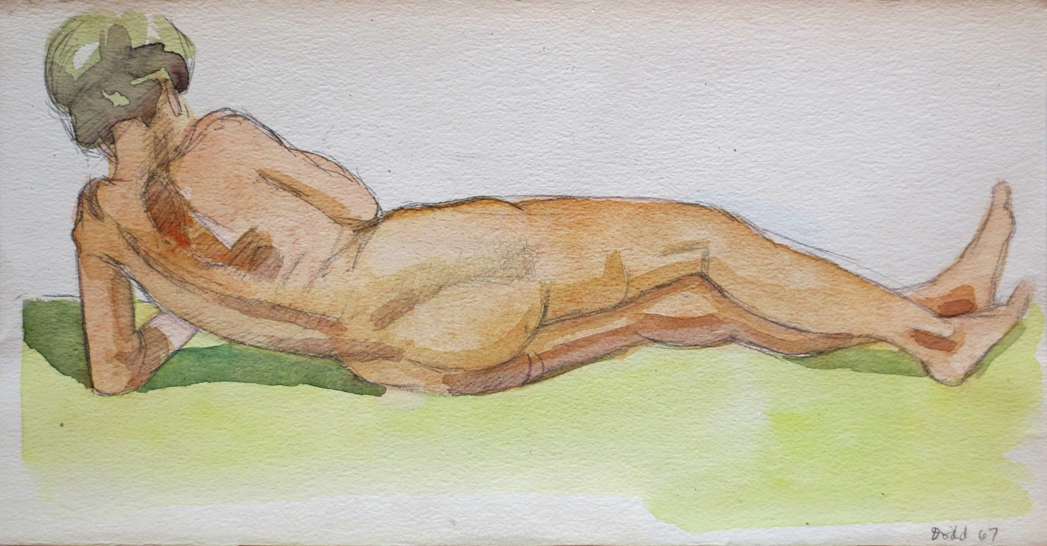 Figure Reclining (Back View)