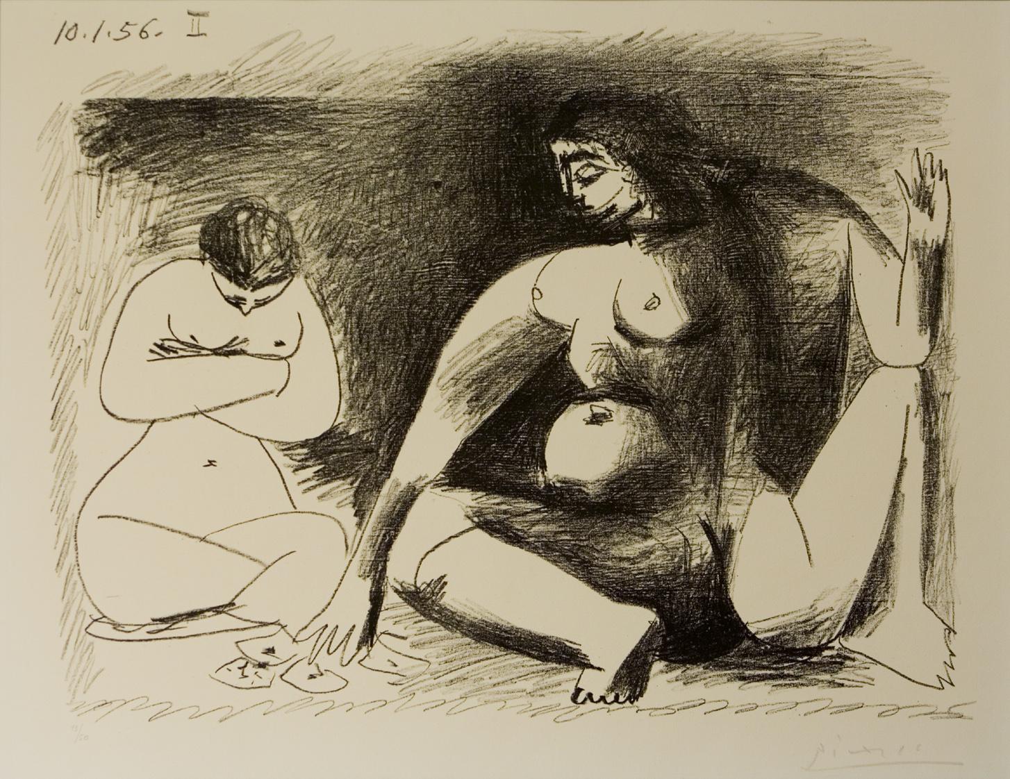 Deux Femme accroupies