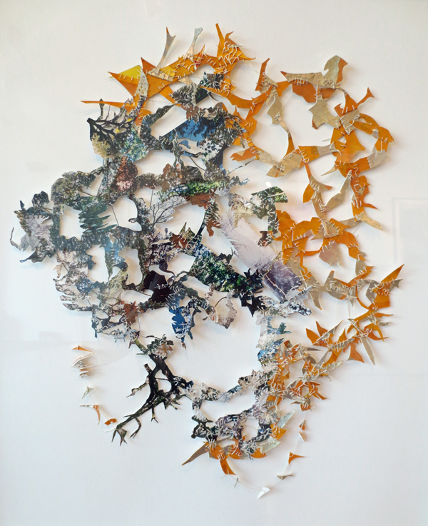 Dodi Wexler    The Trees Between the Space with Dappled Sunlight , 1999  Mixed media, paper cut out
