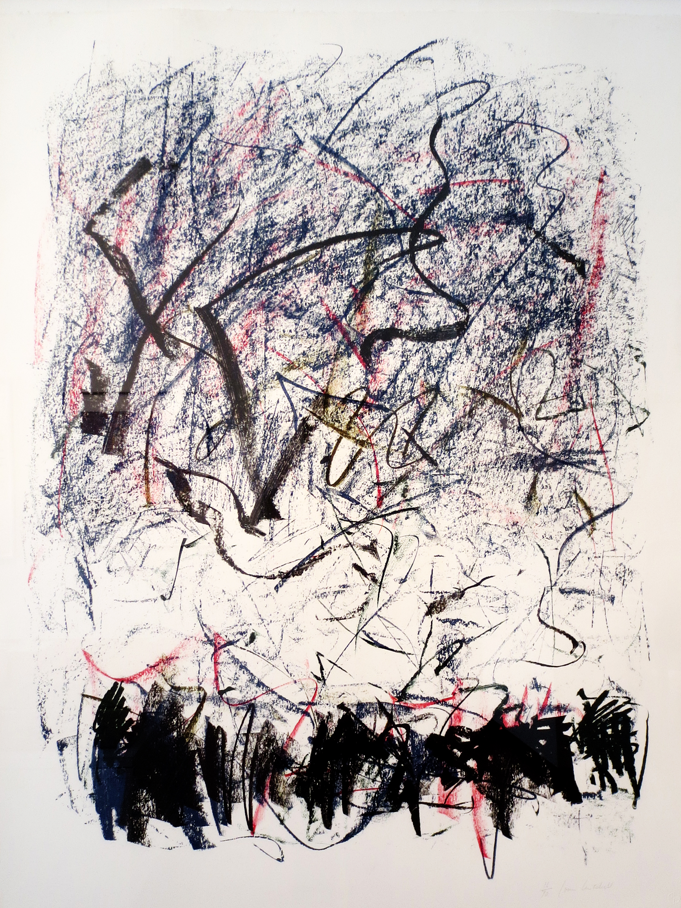 Joan Mitchell   Bedford , 1981 Lithograph Signed and numbered edition of 70 Sheet size: 42 x 31 1/2 inches Framed Size: 46 1/8 X 36 inches